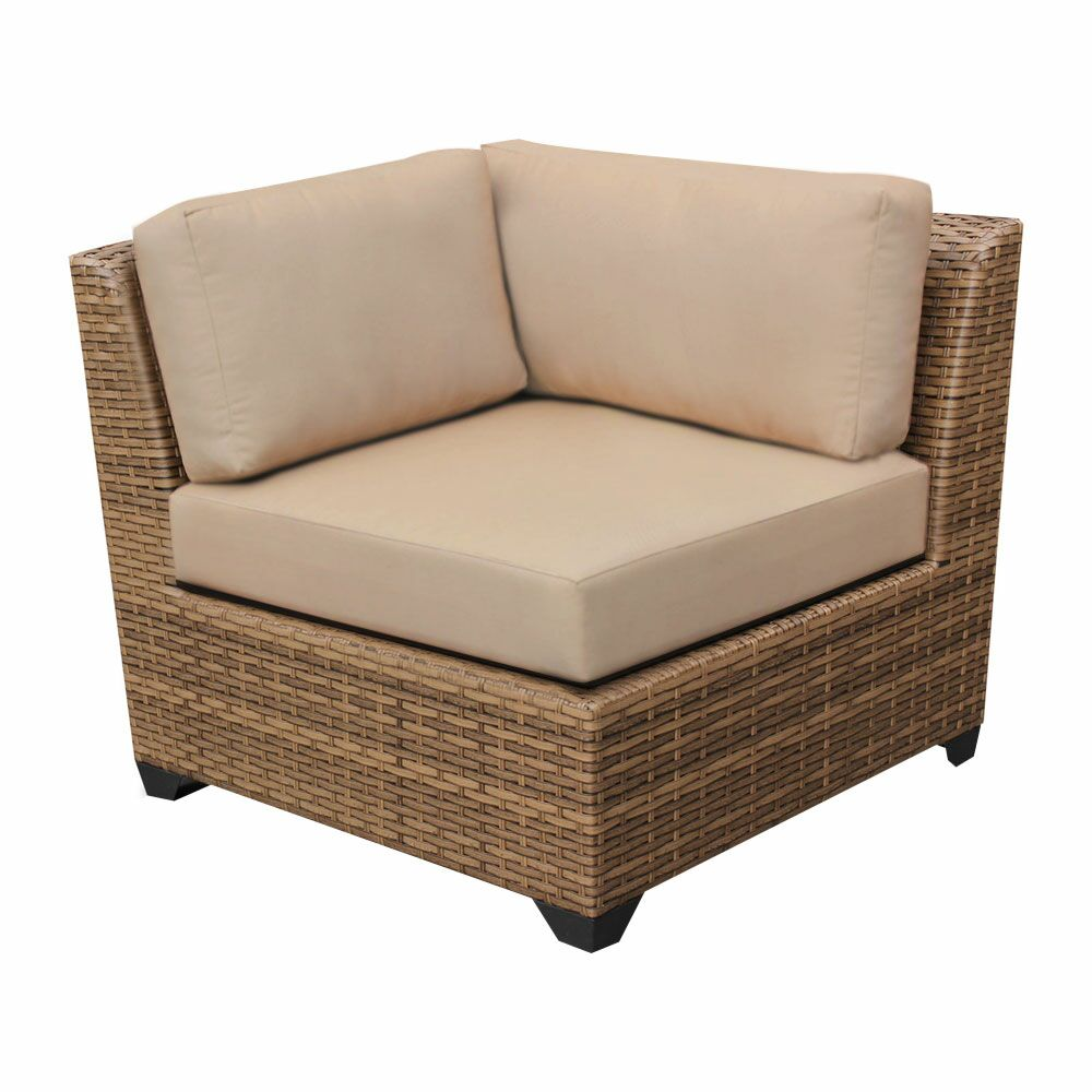 East Village 11 Piece Rattan Sectional Set with Cushions Color: Aruba
