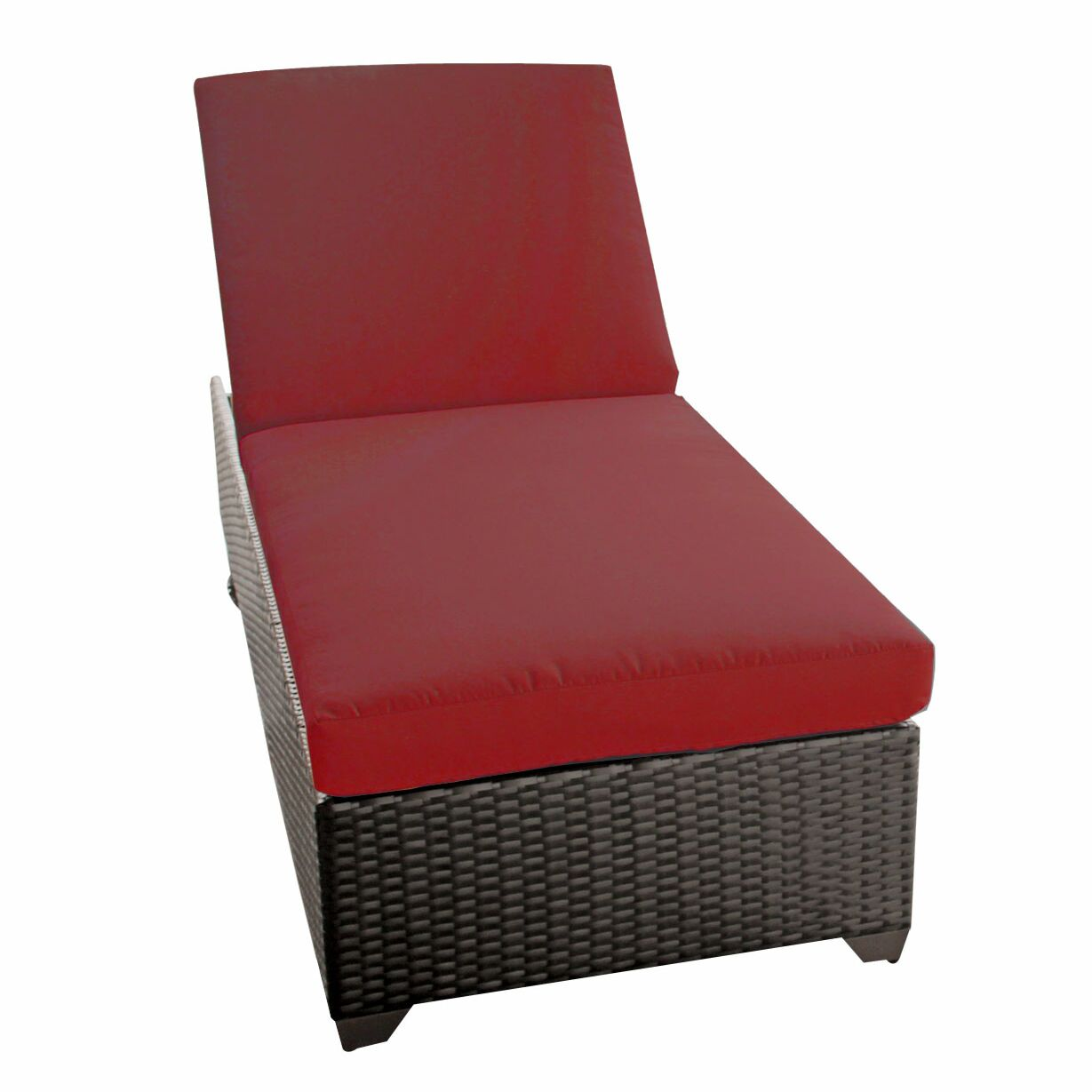 Classic Chaise Lounge with Cushions Color: Terracotta