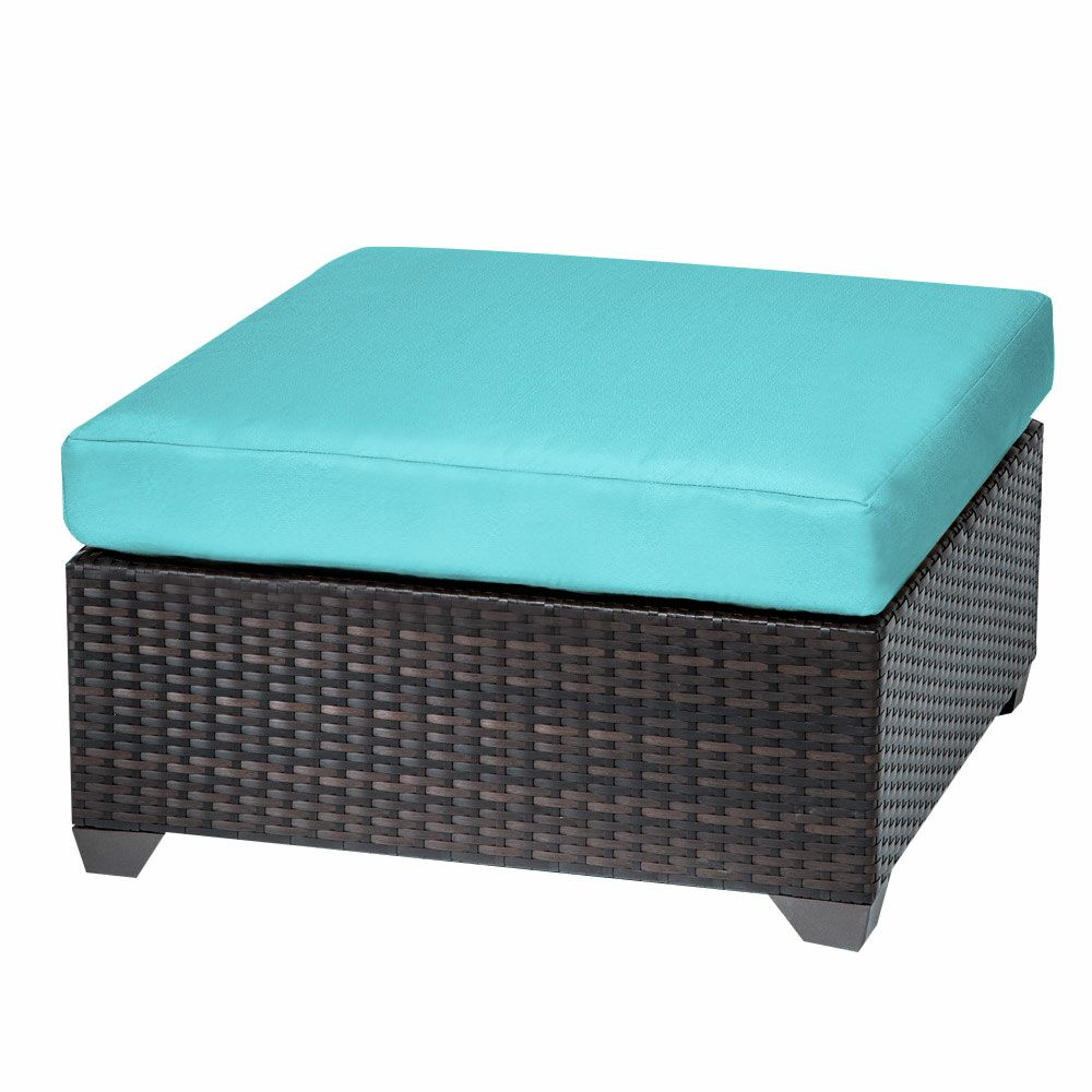 Belle Ottoman with Cushion Fabric: Aruba