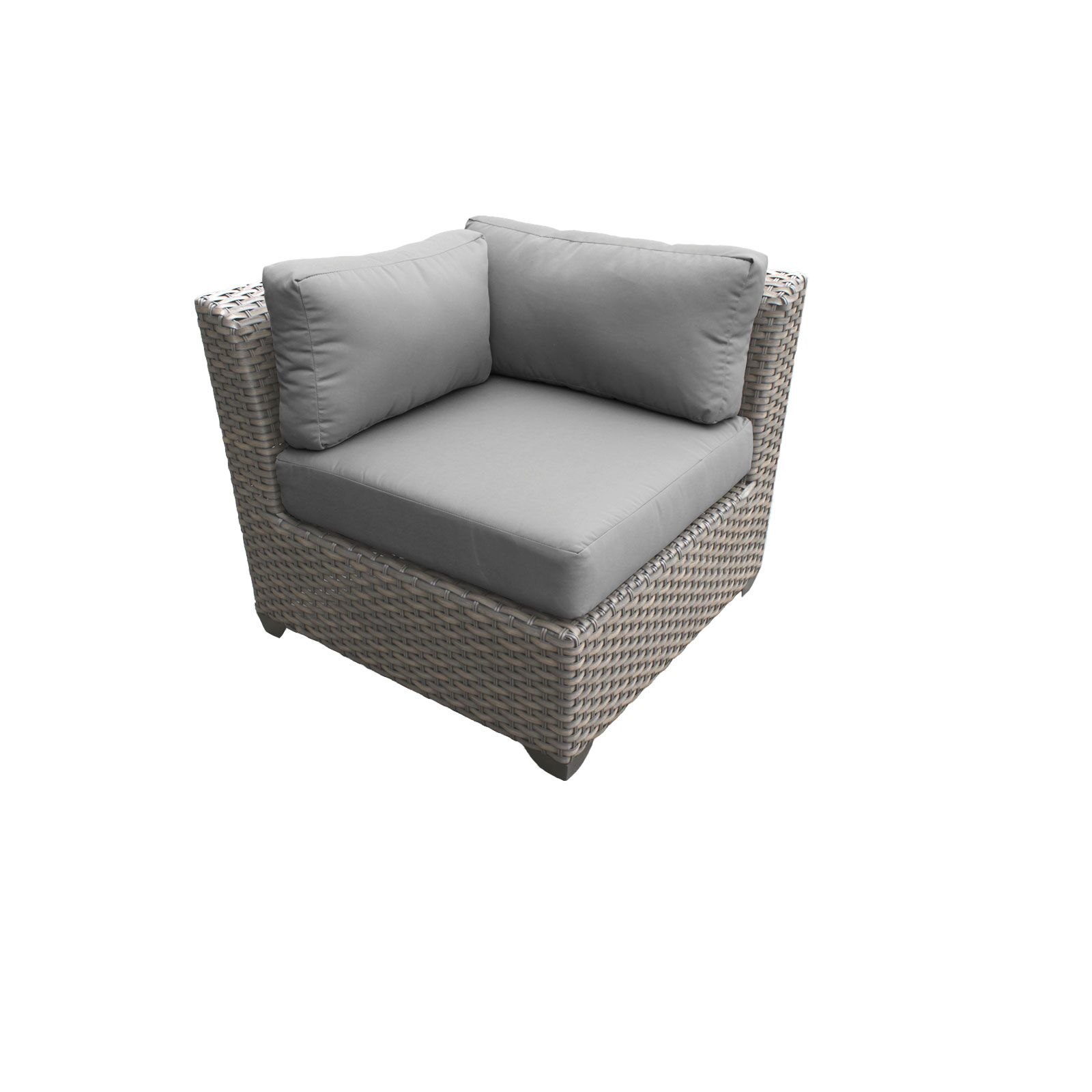 Florence 14 Piece Sectional Set with Cushions Fabric: Gray