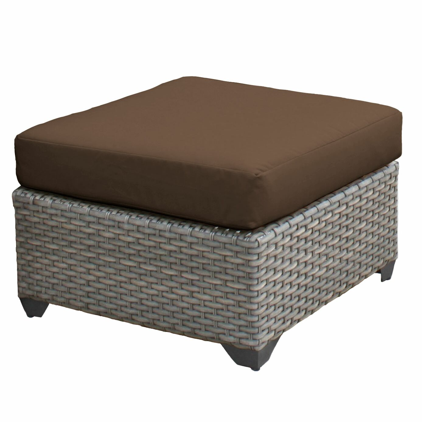 Florence Ottoman with Cushion Color: Cocoa