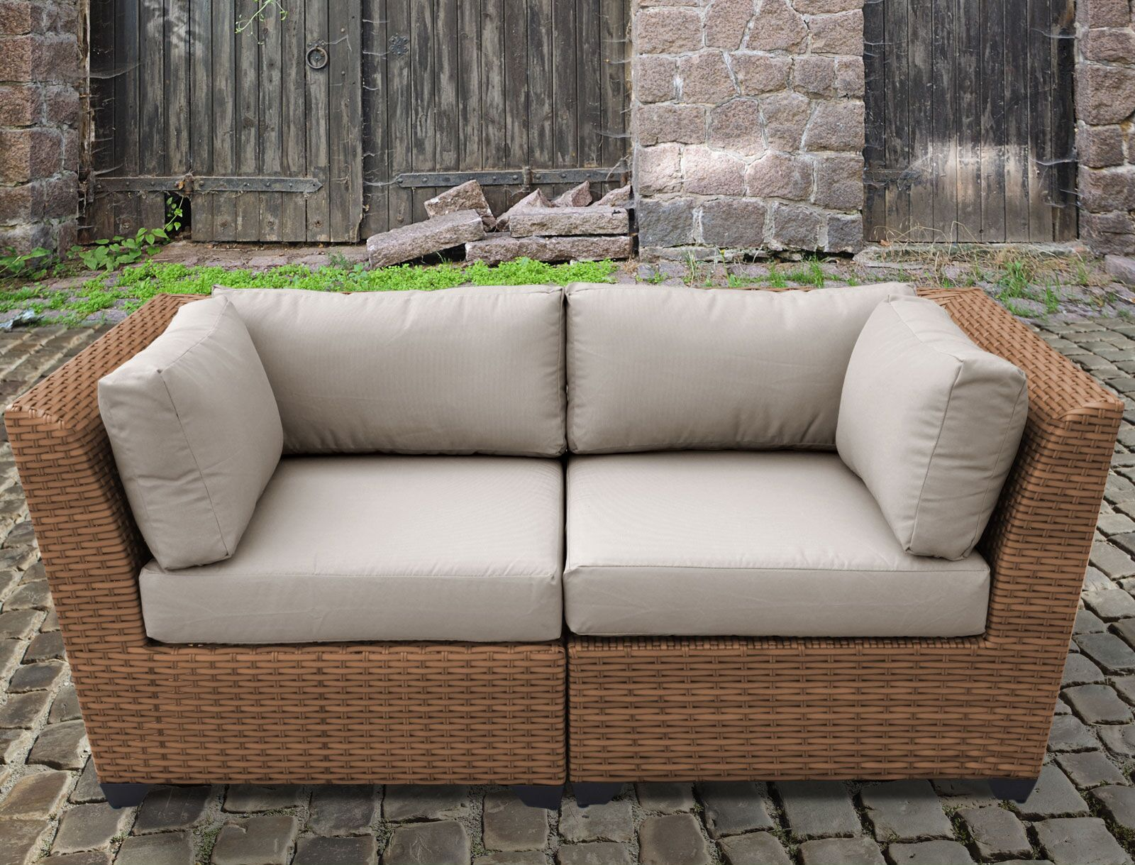 East Village Loveseat with Cushion Color: Beige