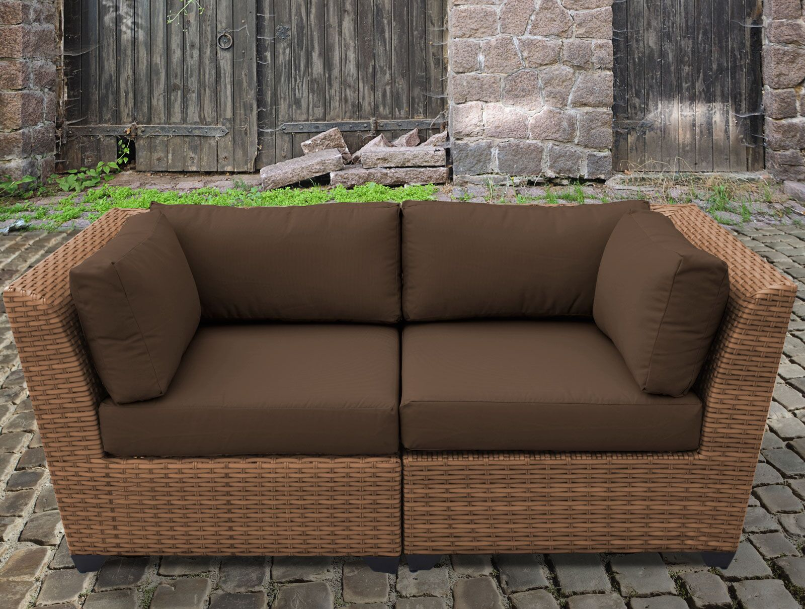 East Village Loveseat with Cushion Color: Cocoa