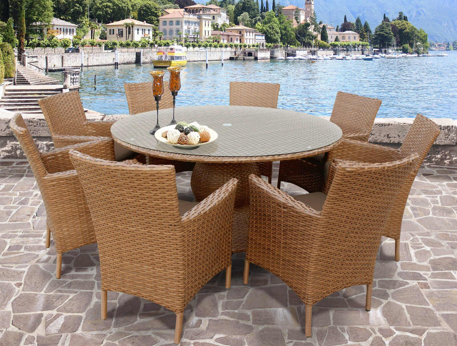 East Village Patio Dining Set Color: Terracotta