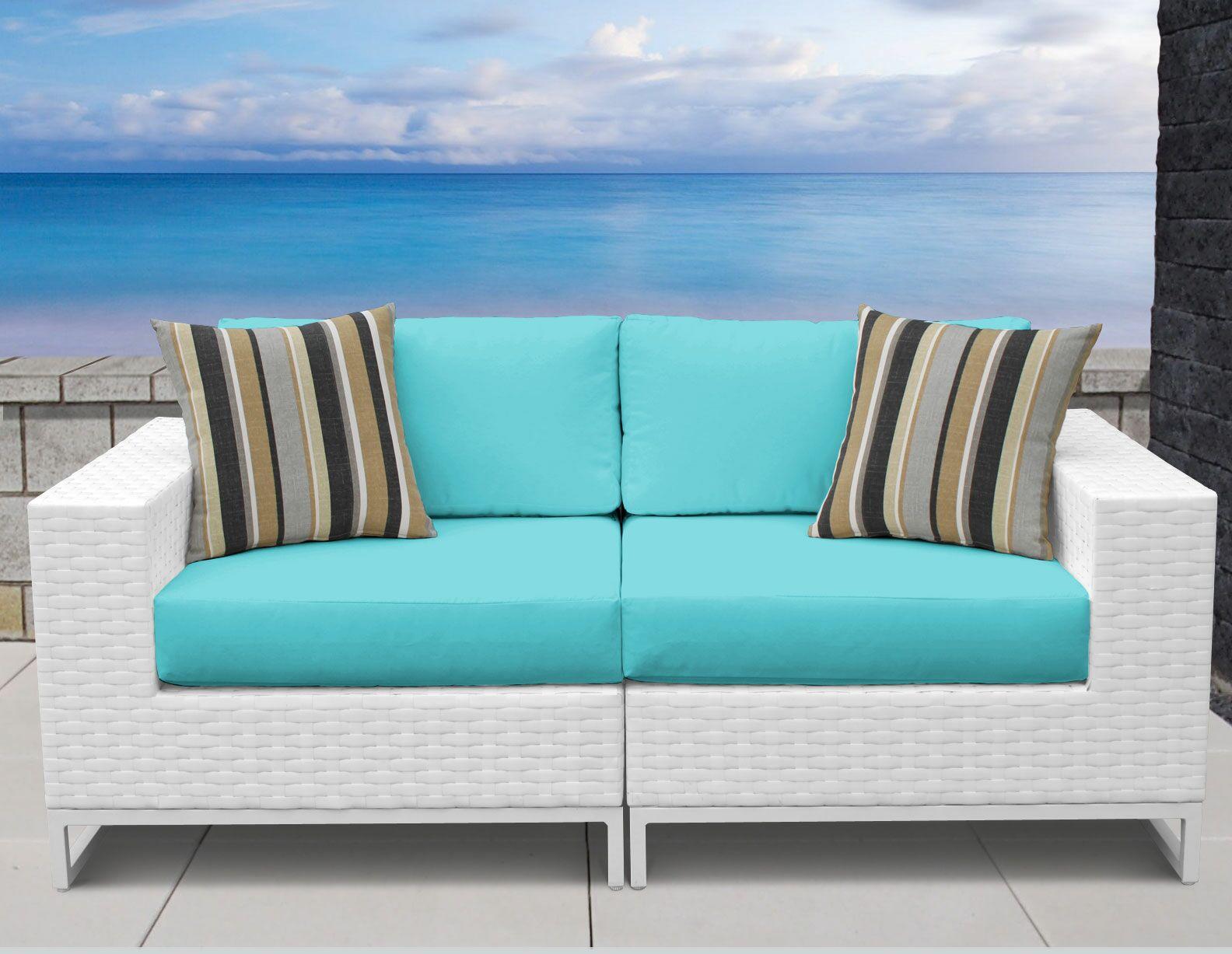 Miami 2 Piece Sofa Set with Cushions Fabric: Aruba