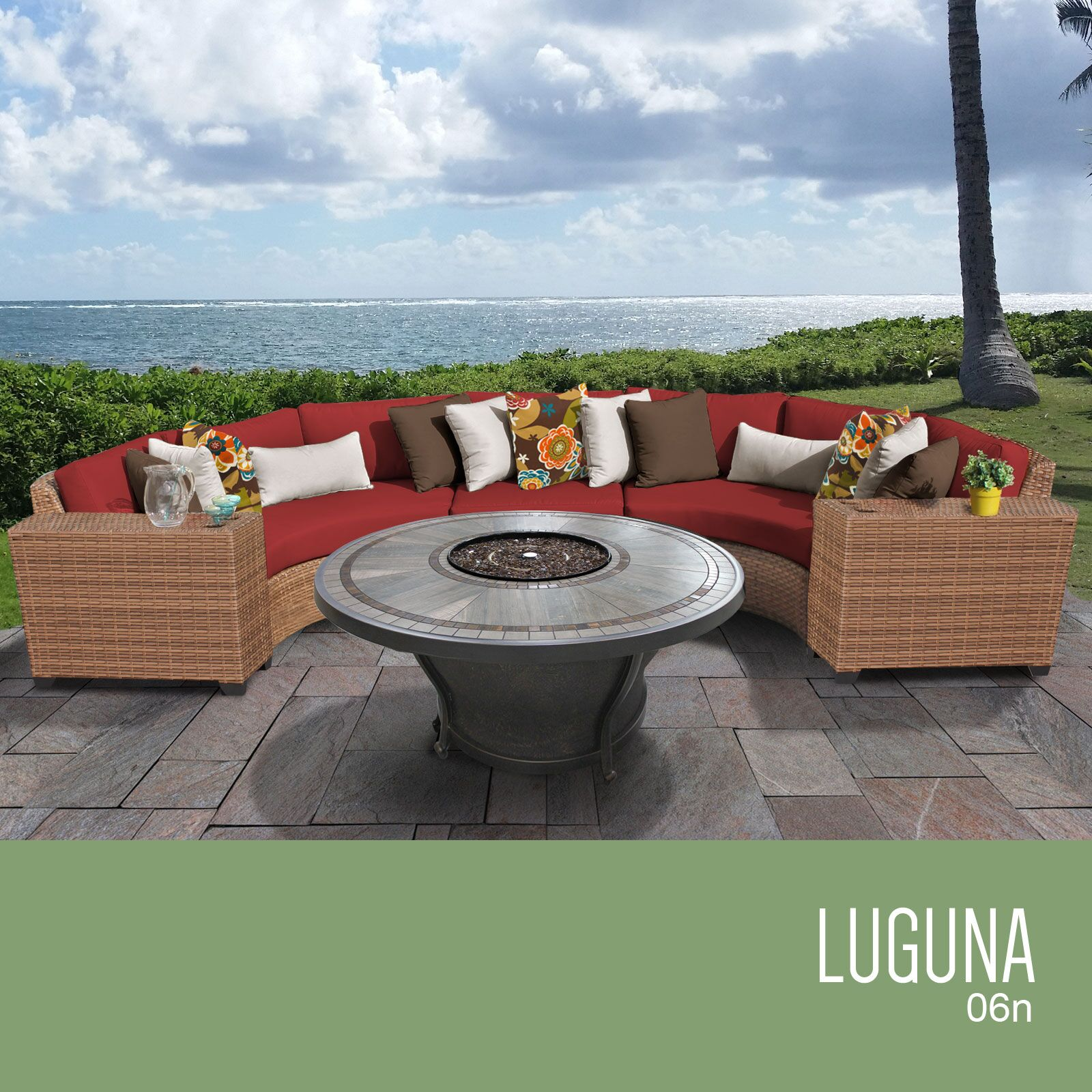 East Village 6 Piece Sectional Set with Cushions Cushion Color: Terracotta