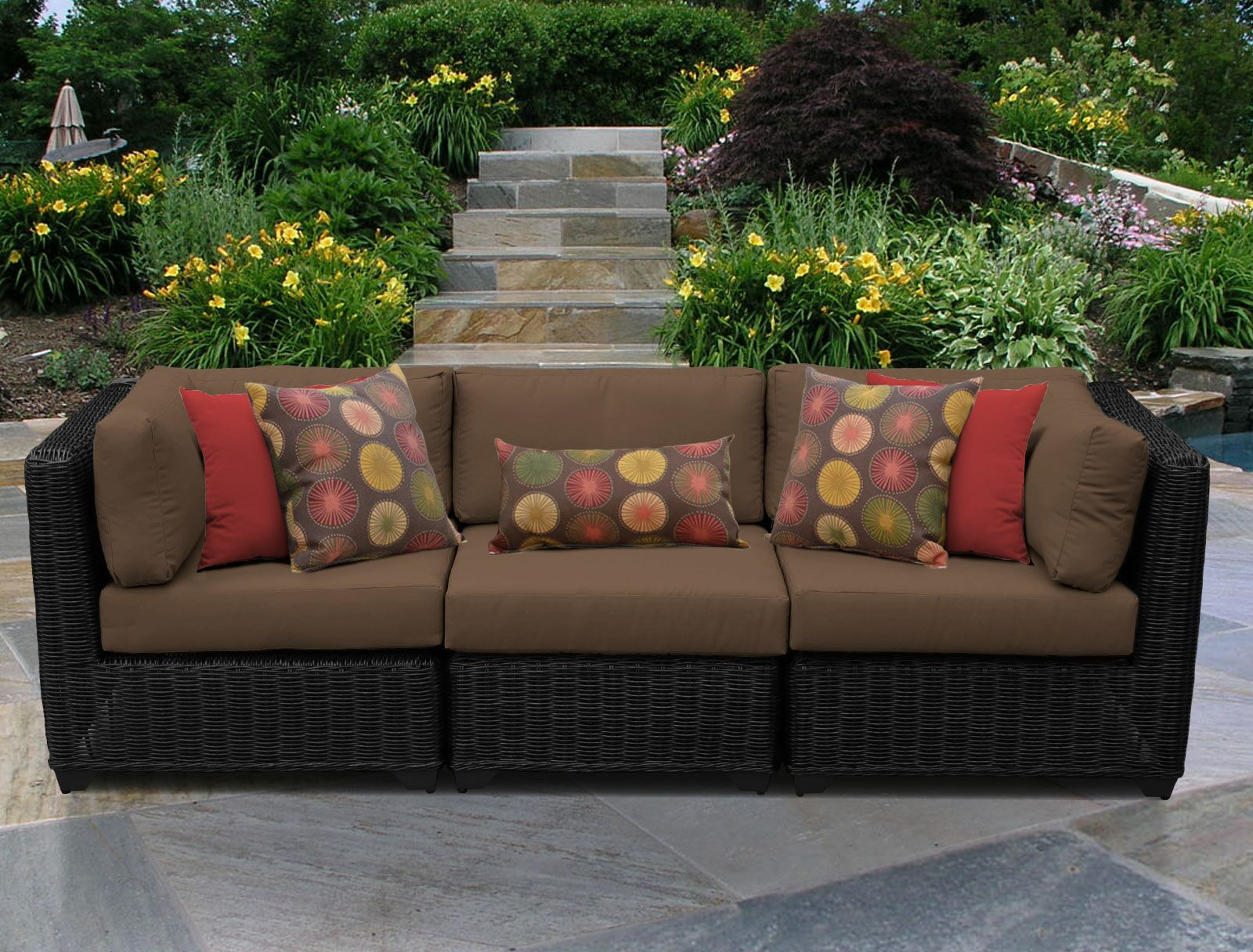 Eldredge Corner Armless Sectional Piece with Cushions Color: Cocoa