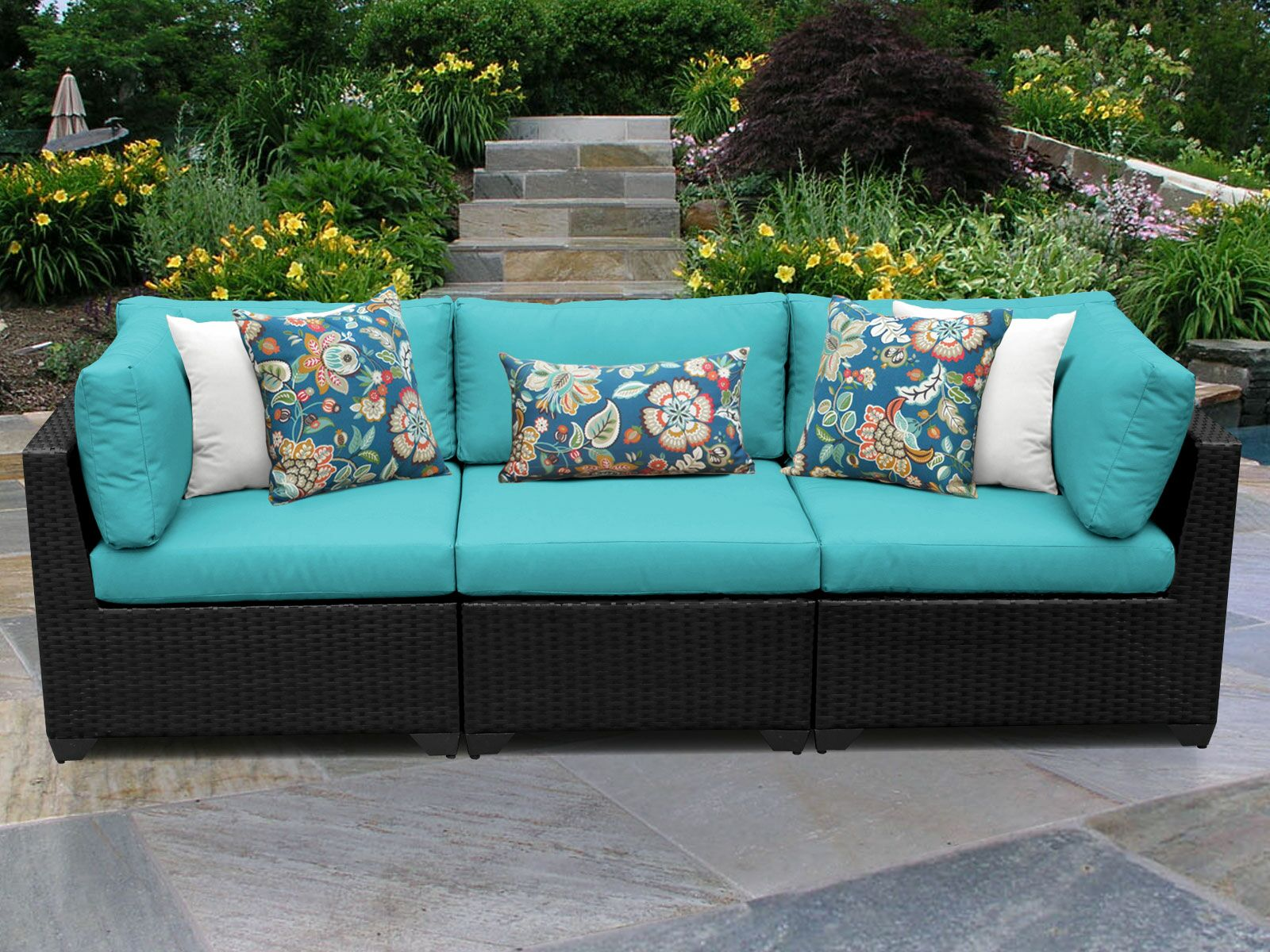 Belle Corner Armless Sectional Piece with Cushions Color: Aruba