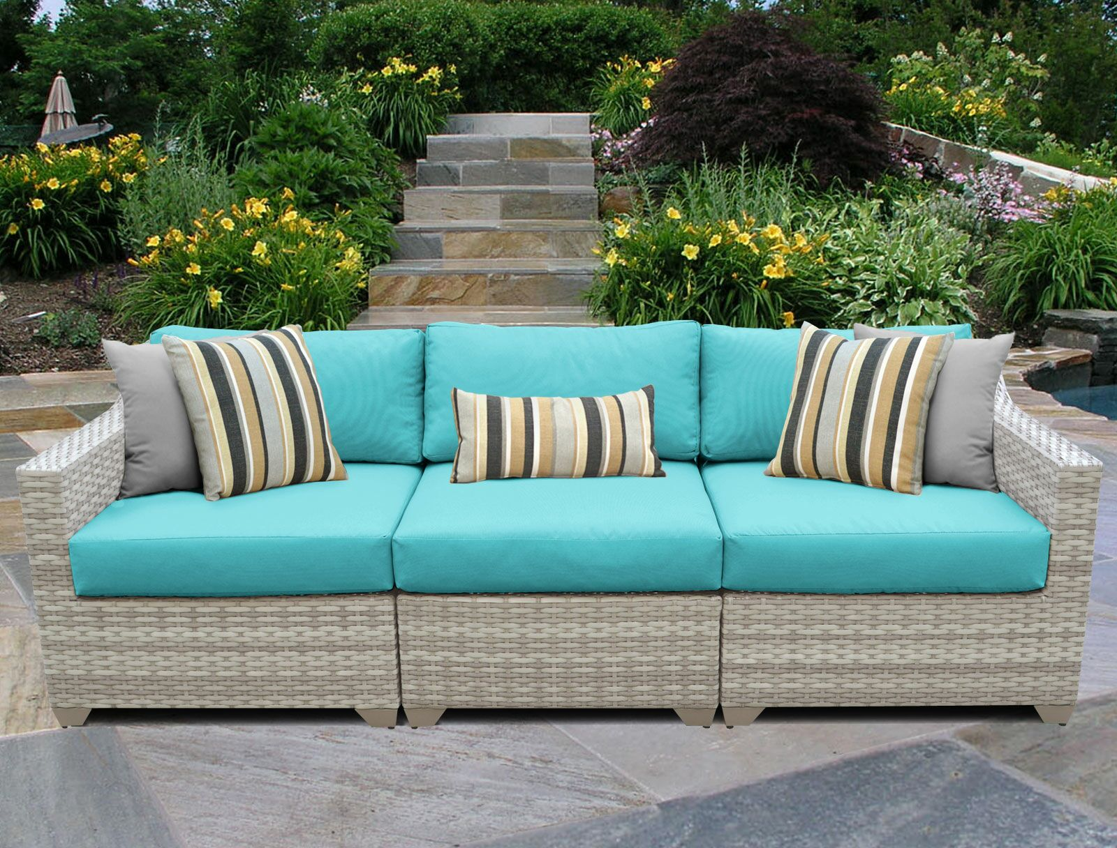 Fairmont Left/Right Armless Sectional Piece with Cushions Color: Aruba