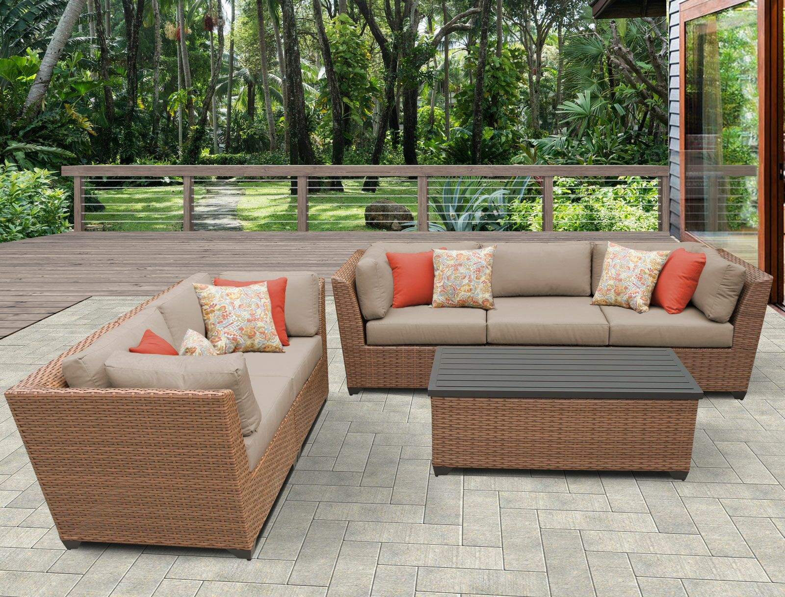 East Village 6 Piece Sofa Set with Cushions Color: Wheat