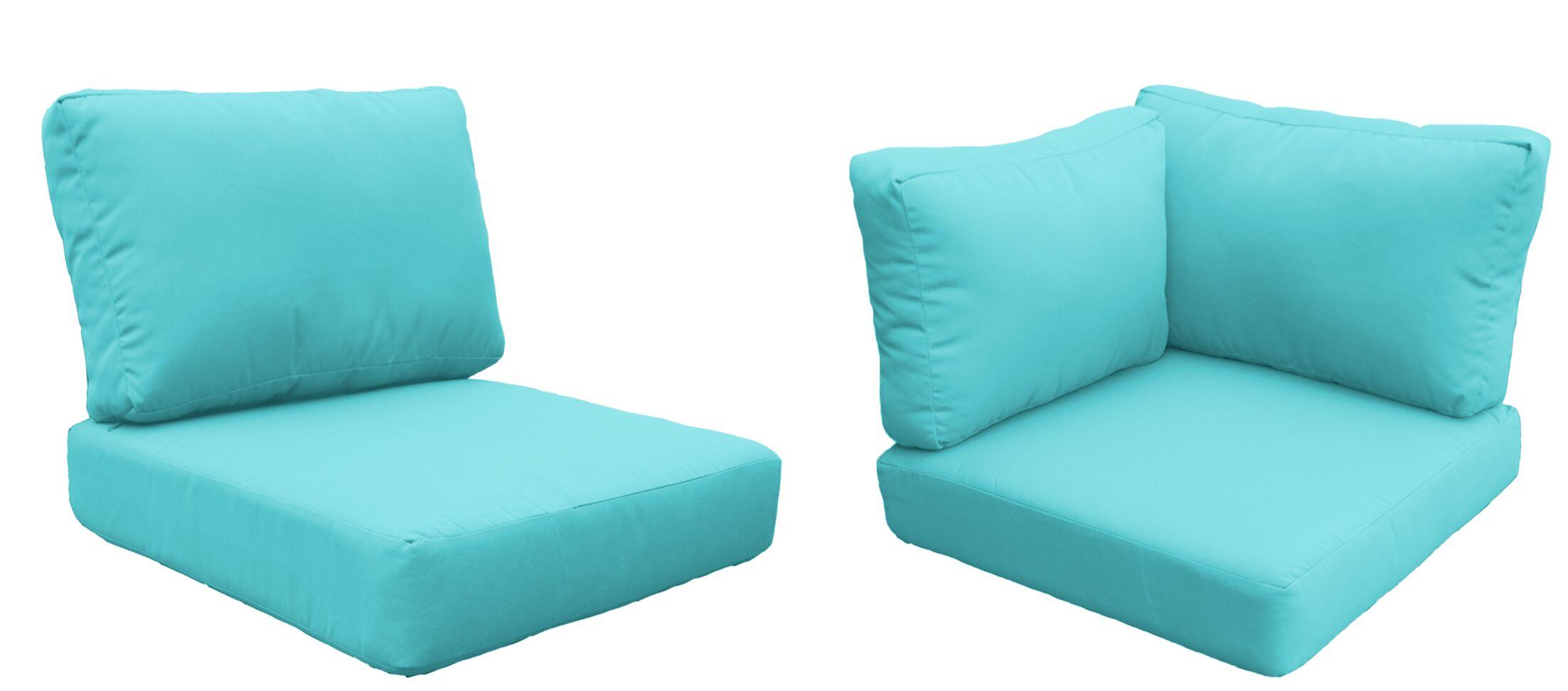 Florence 21 Piece Outdoor Cushion Set Fabric: Aruba