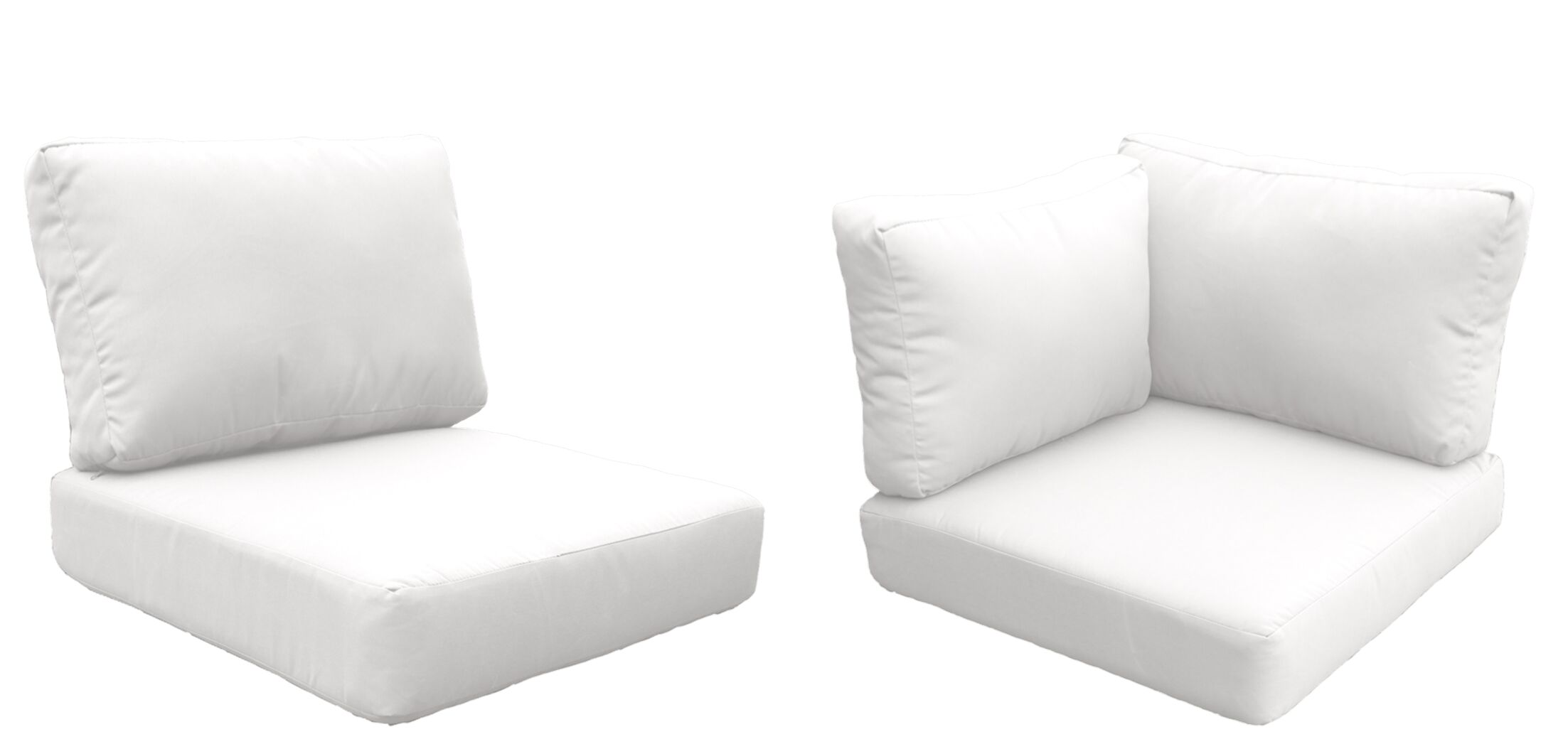 Florence 21 Piece Outdoor Cushion Set Fabric: White