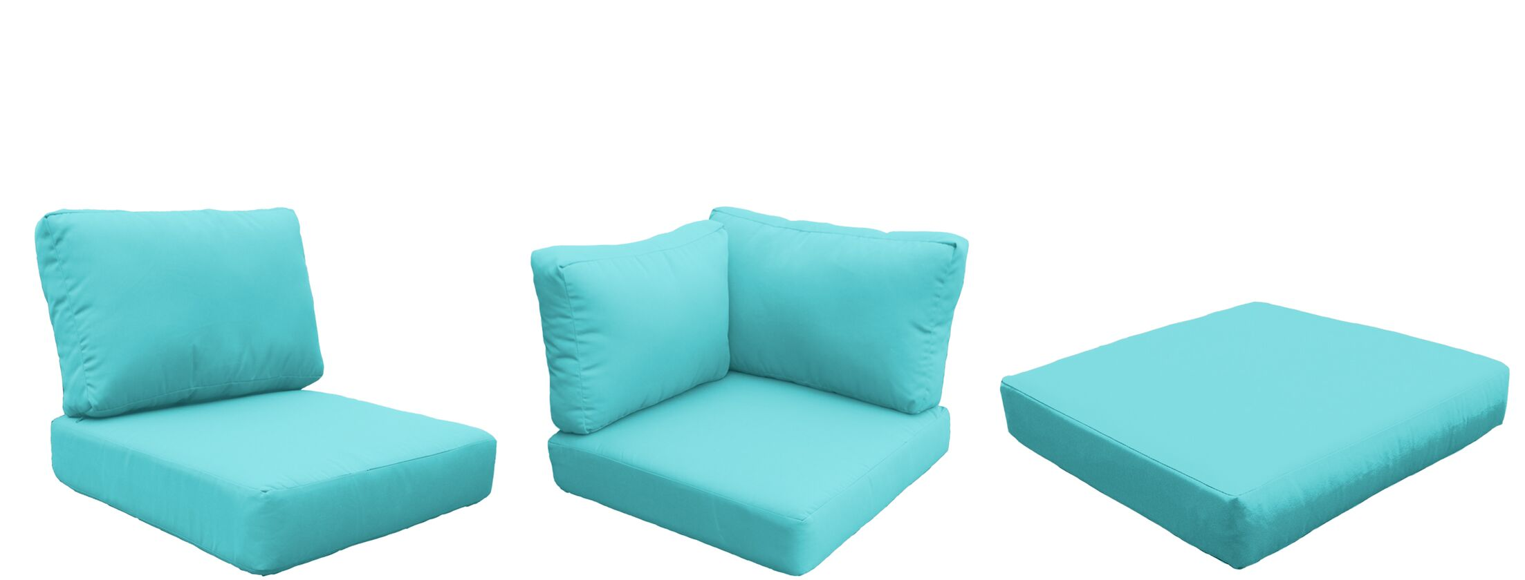 Florence 18 Piece Outdoor Cushion Set Fabric: Aruba