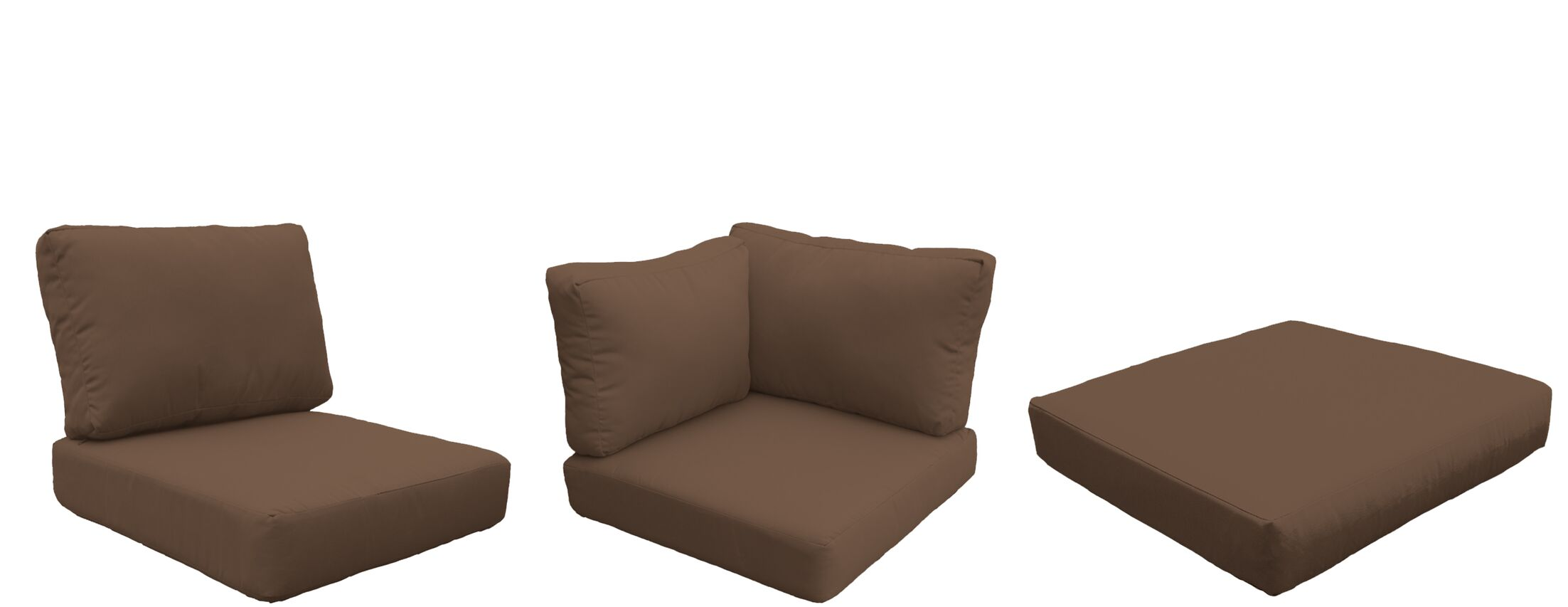 Florence 18 Piece Outdoor Cushion Set Fabric: Cocoa