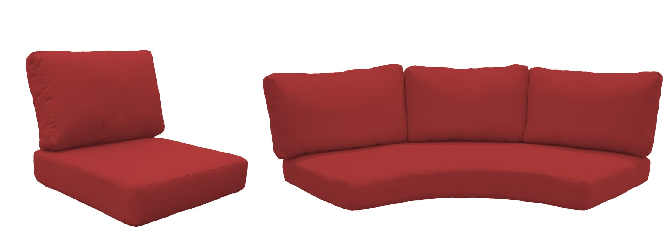 Barbados 10 Piece Outdoor Cushion Set Fabric: Terracotta