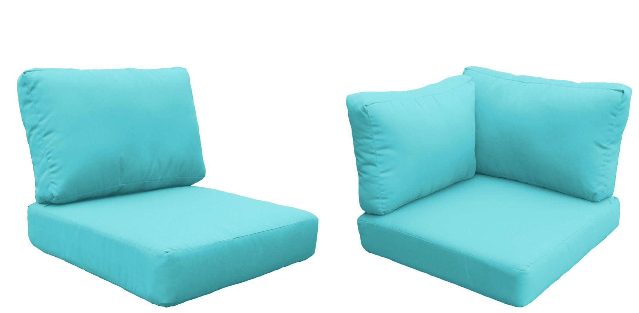 Florence 24 Piece Outdoor Cushion Set Fabric: Aruba