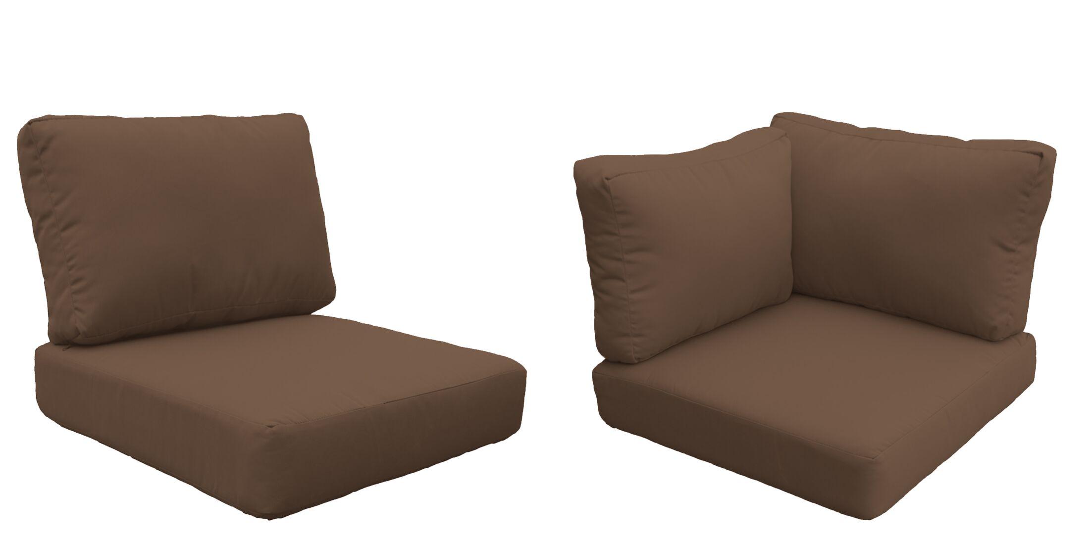 Barbados 17 Piece Outdoor Cushion Set Fabric: Cocoa
