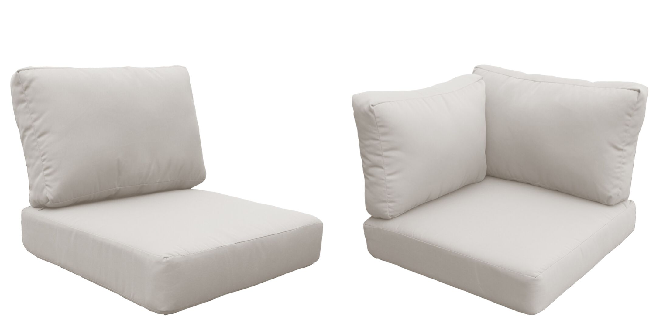 Barbados 17 Piece Outdoor Cushion Set Fabric: Beige