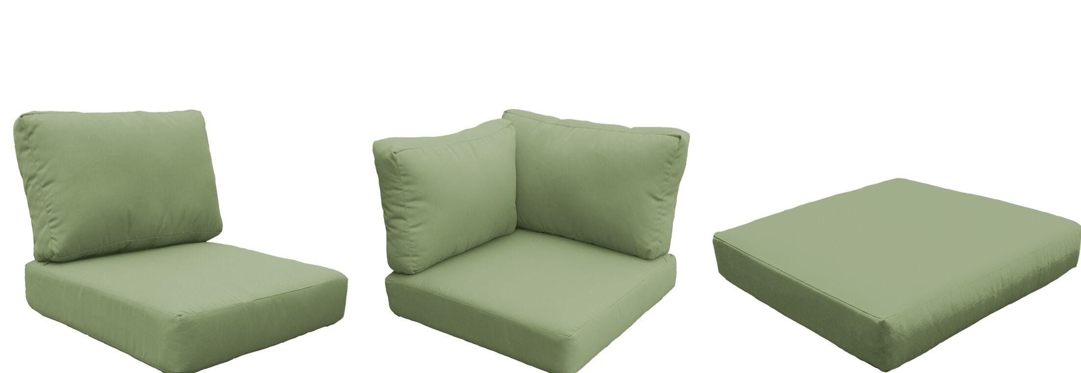 Barbados 12 Piece Outdoor Cushion Set Fabric: Cilantro