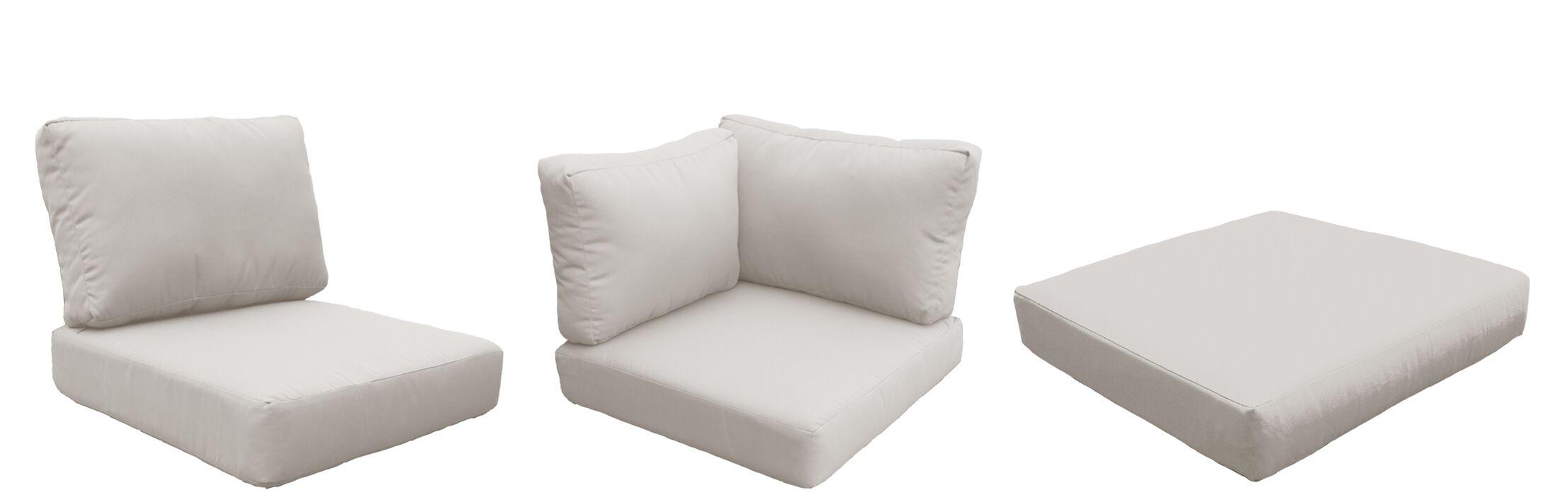 Barbados 12 Piece Outdoor Cushion Set Fabric: Beige