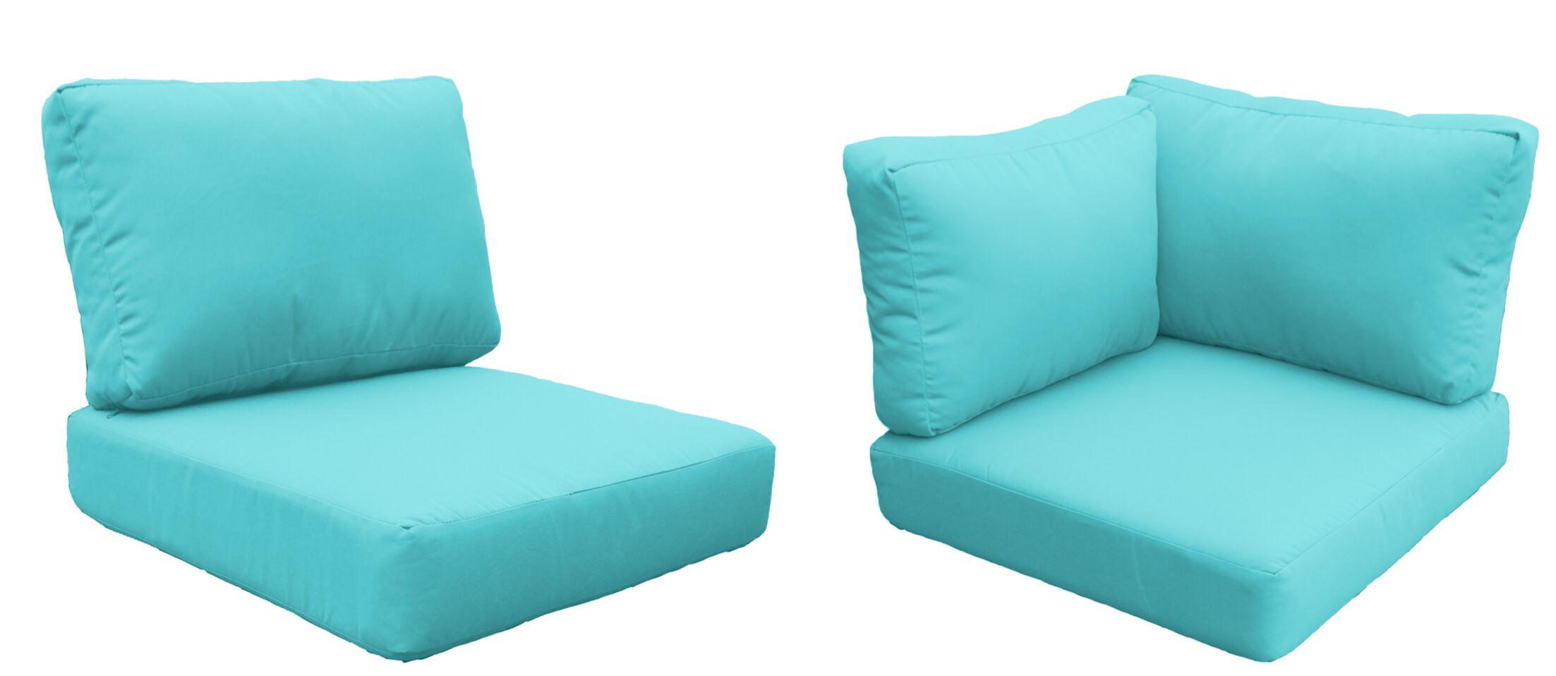 Barbados 14 Piece Outdoor Cushion Set Fabric: Aruba