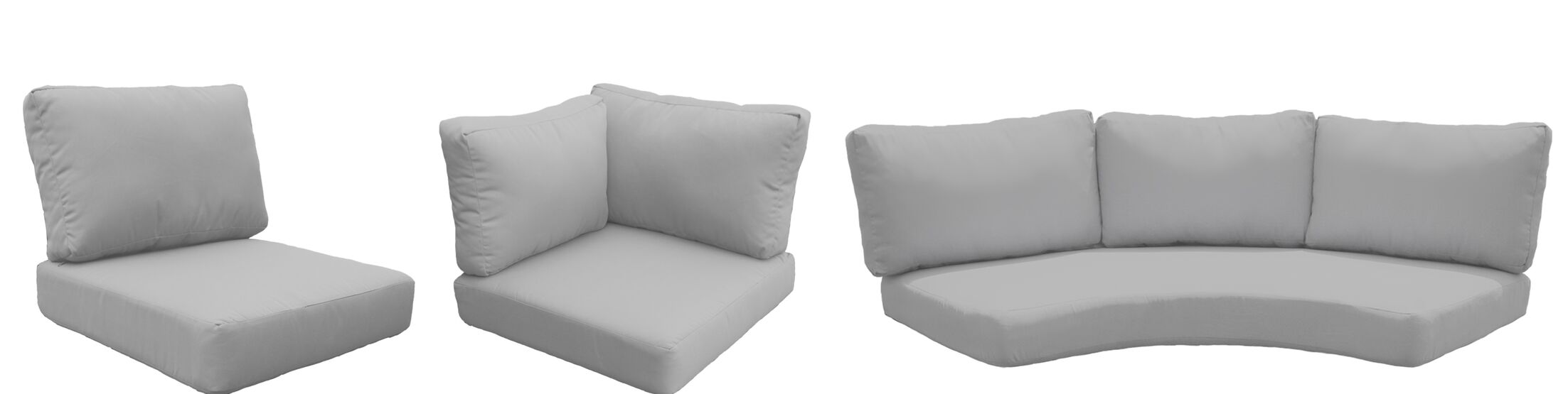 Barbados 14 Piece Outdoor Cushion Set Fabric: Gray