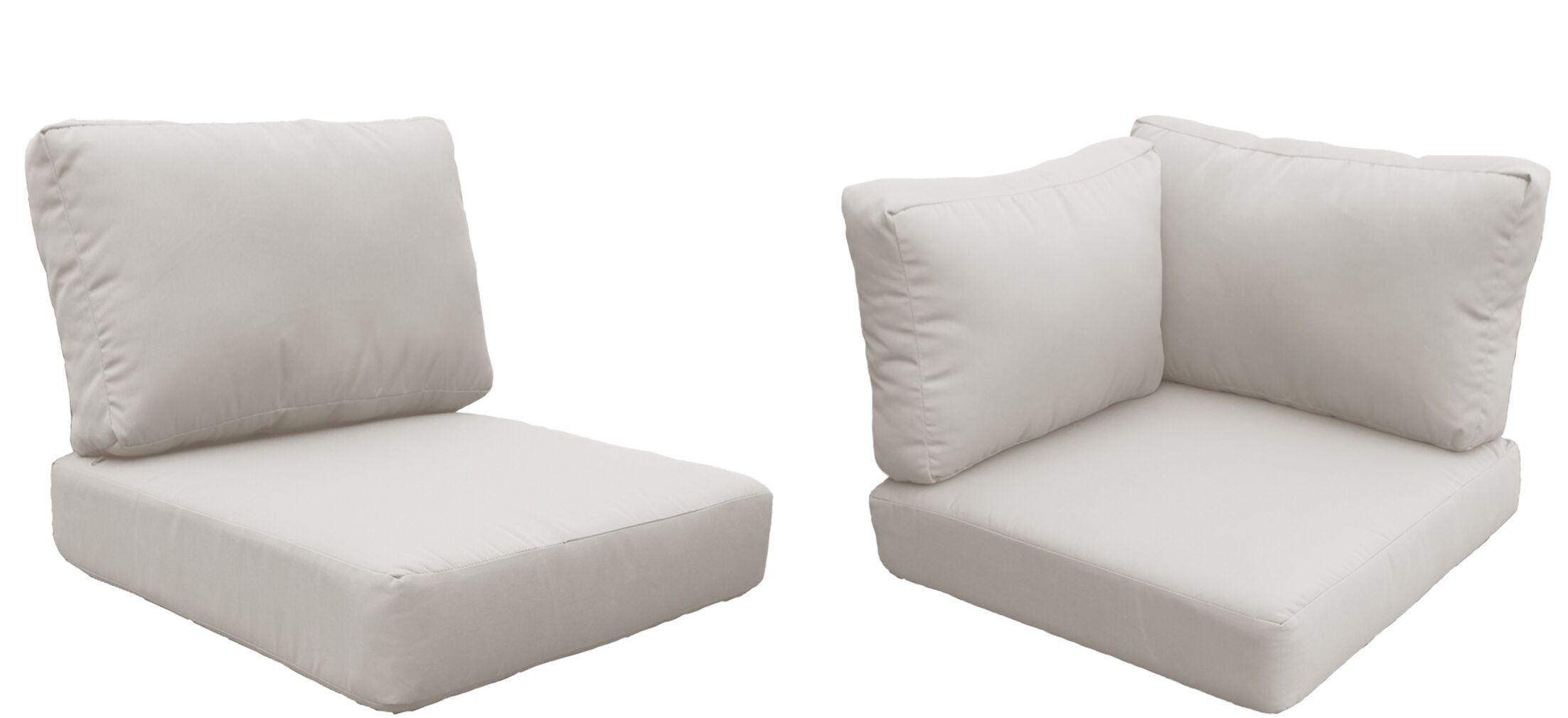 Barbados 14 Piece Outdoor Cushion Set Fabric: Beige