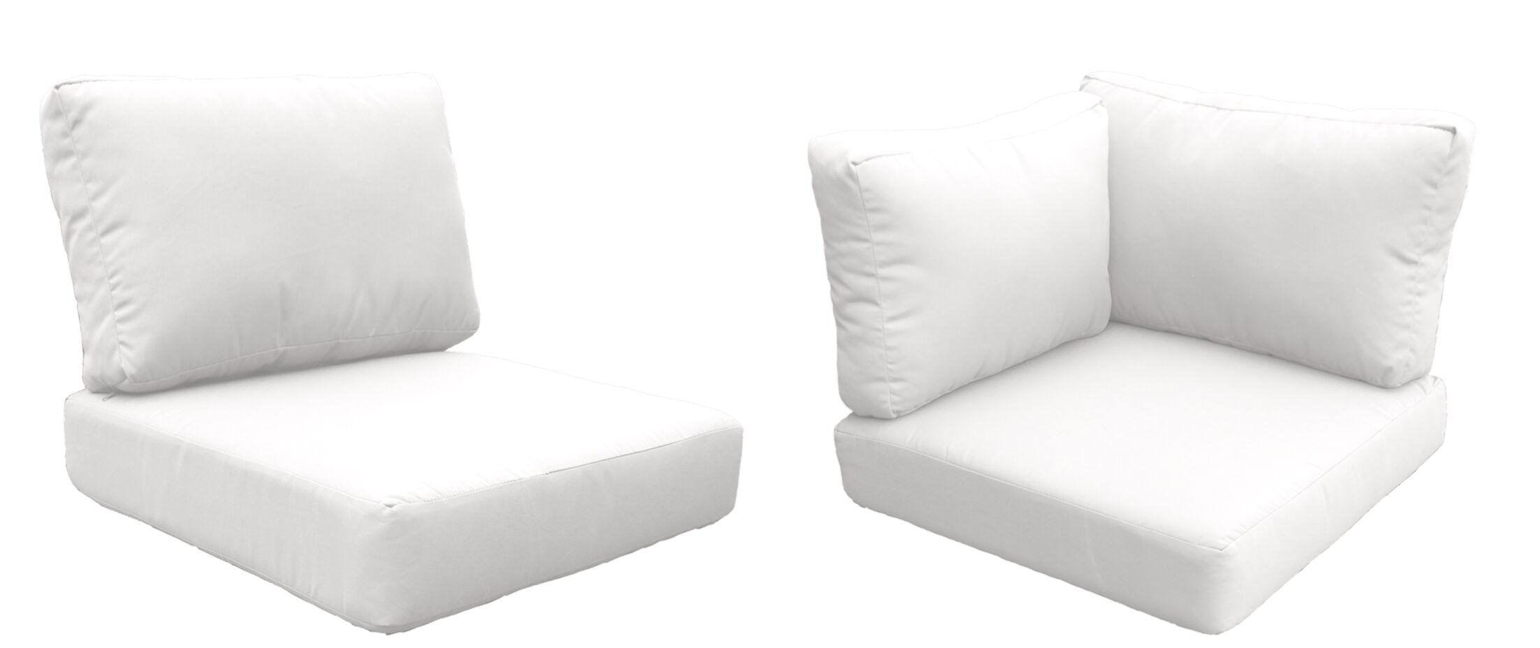 Barbados 14 Piece Outdoor Cushion Set Fabric: White
