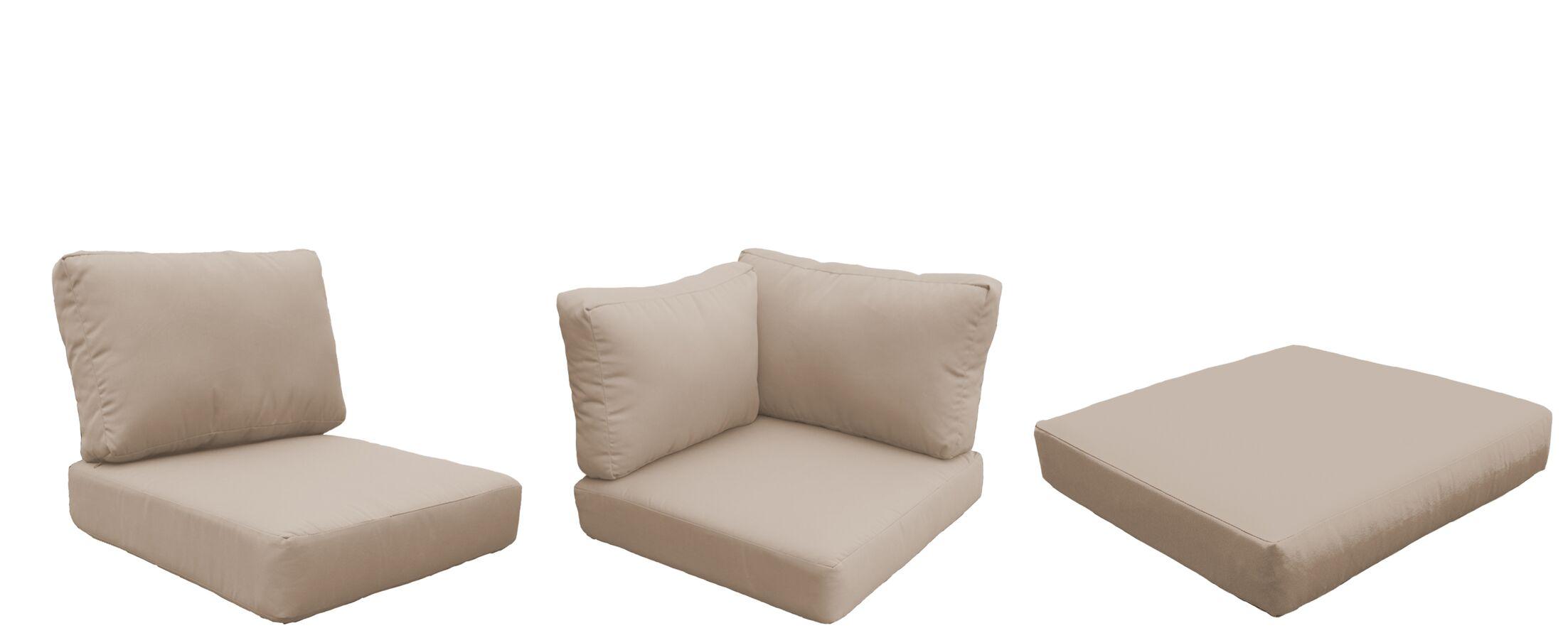 Barbados 22 Piece Outdoor Cushion Set Fabric: Wheat