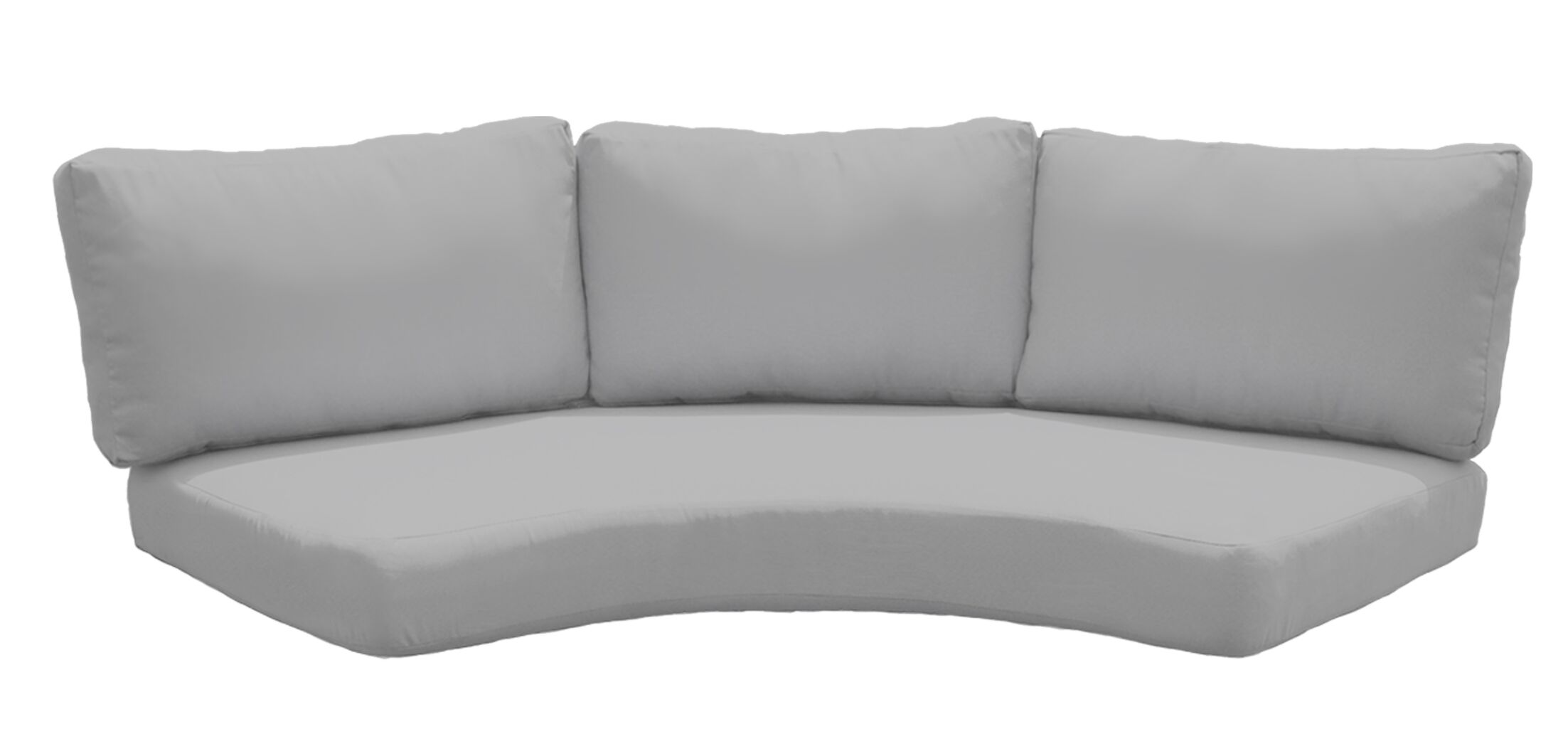 Outdoor Replacement Cushion Set Fabric: Gray
