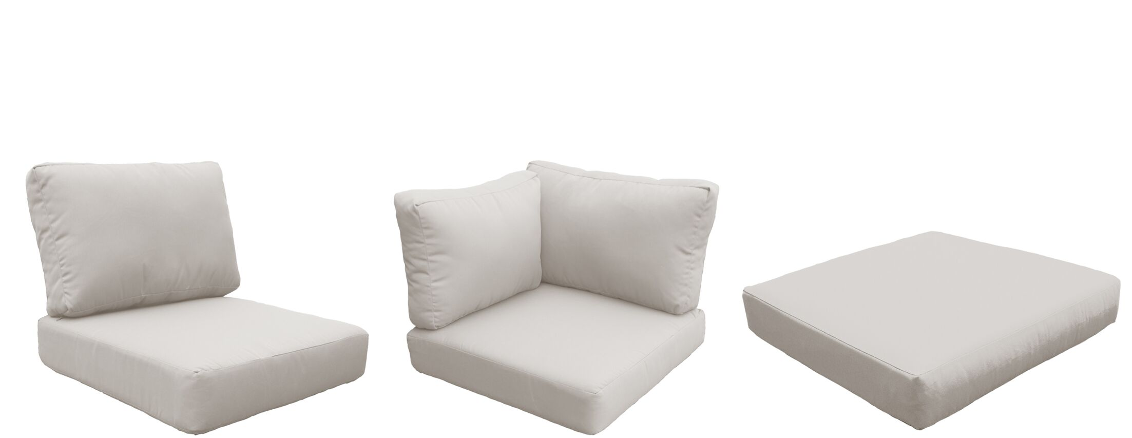 Barbados 21 Piece Outdoor Cushion Set Fabric: Beige
