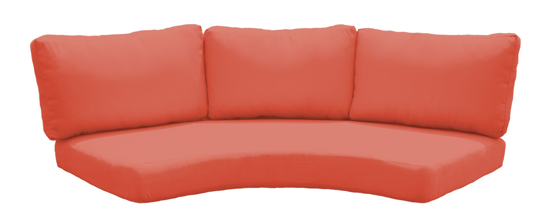 Outdoor Replacement Cushion Set Fabric: Tangerine