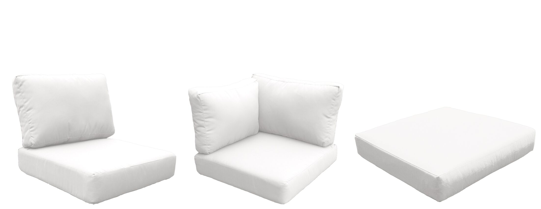 Florence 22 Piece Outdoor Cushion Set Fabric: White