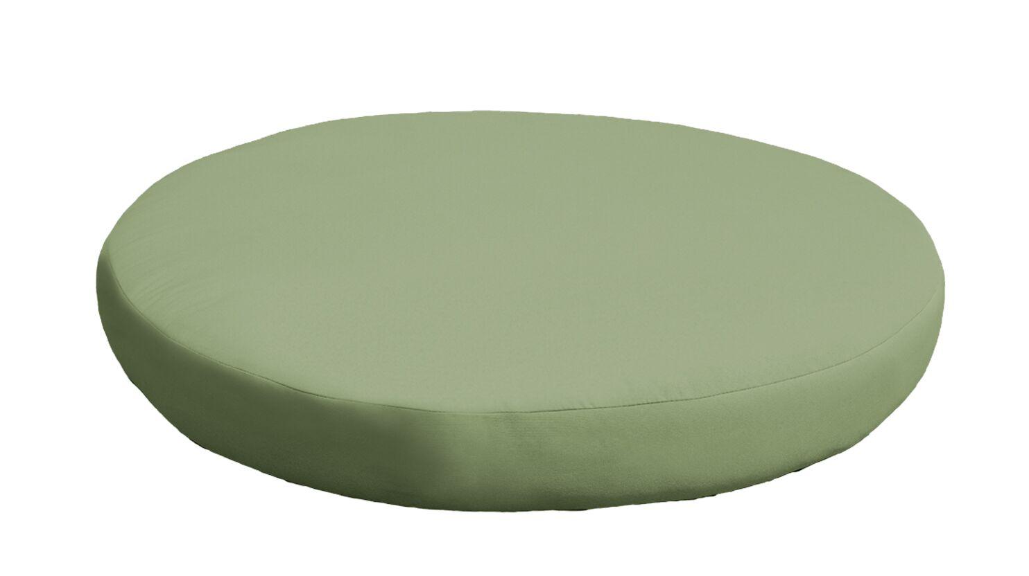 Outdoor Ottoman Cushion Fabric: Cilantro