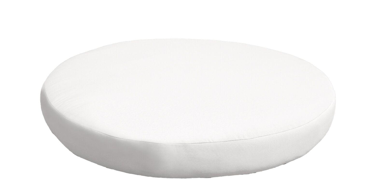 Outdoor Ottoman Cushion Fabric: White