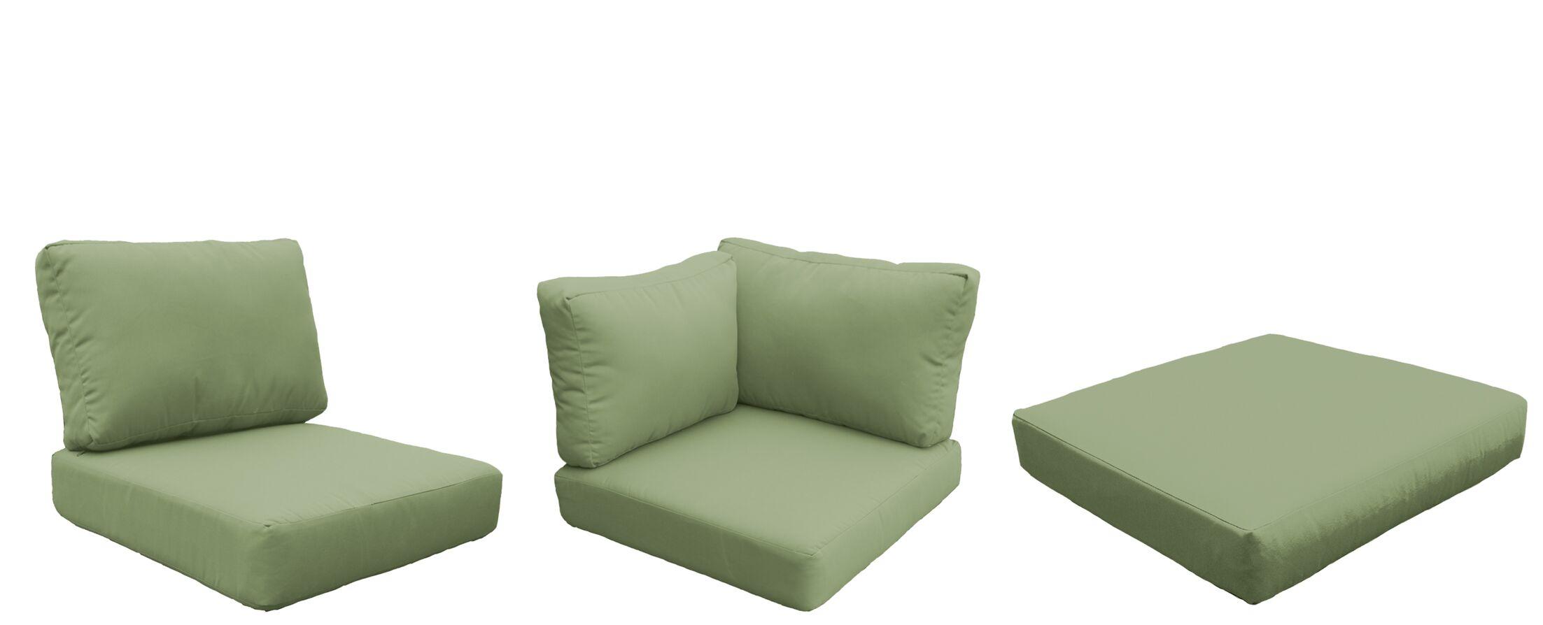 Barbados 21 Piece Outdoor Cushion Set Fabric: Cilantro