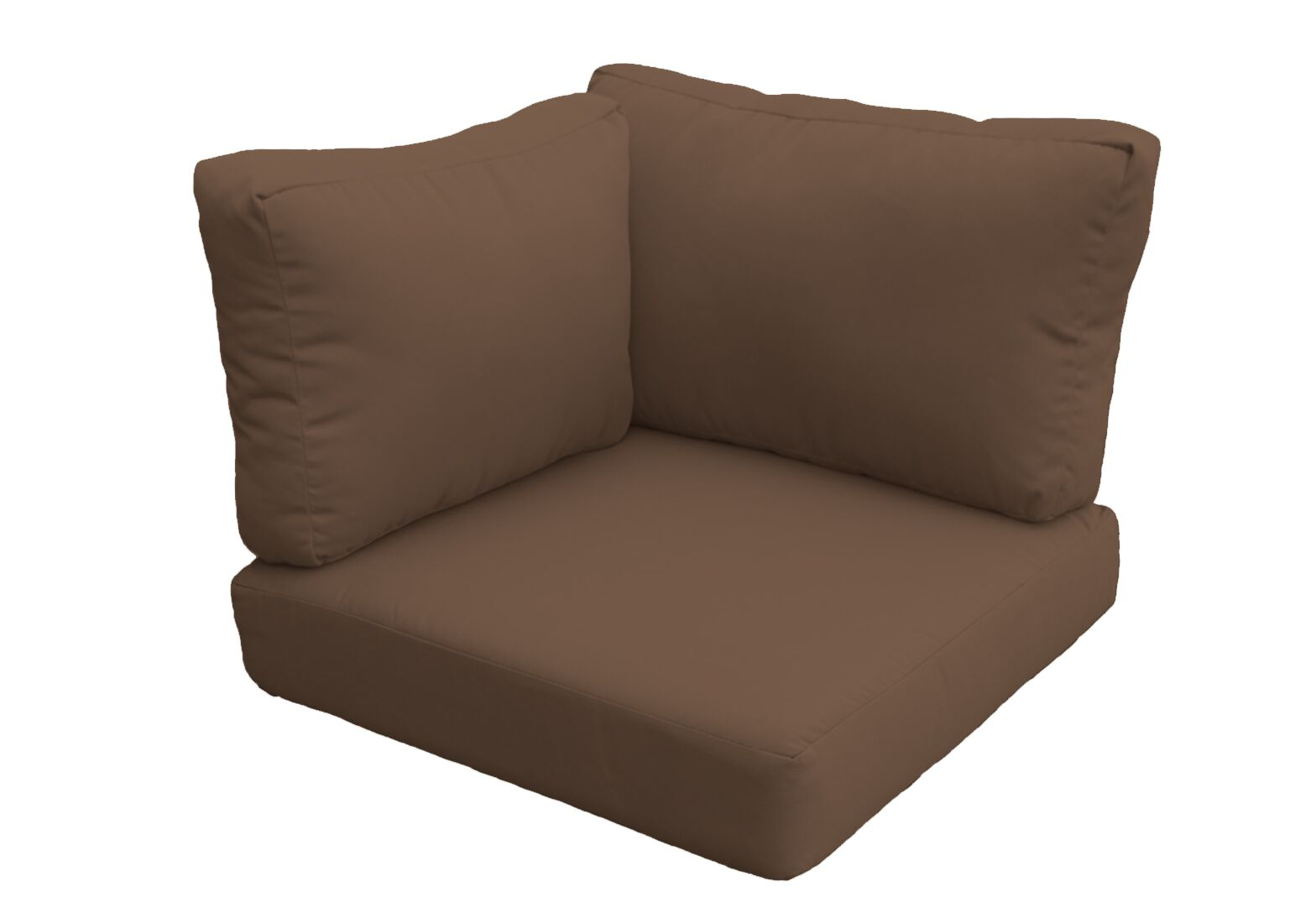 Barbados Outdoor Replacement Cushion Set Fabric: Cocoa