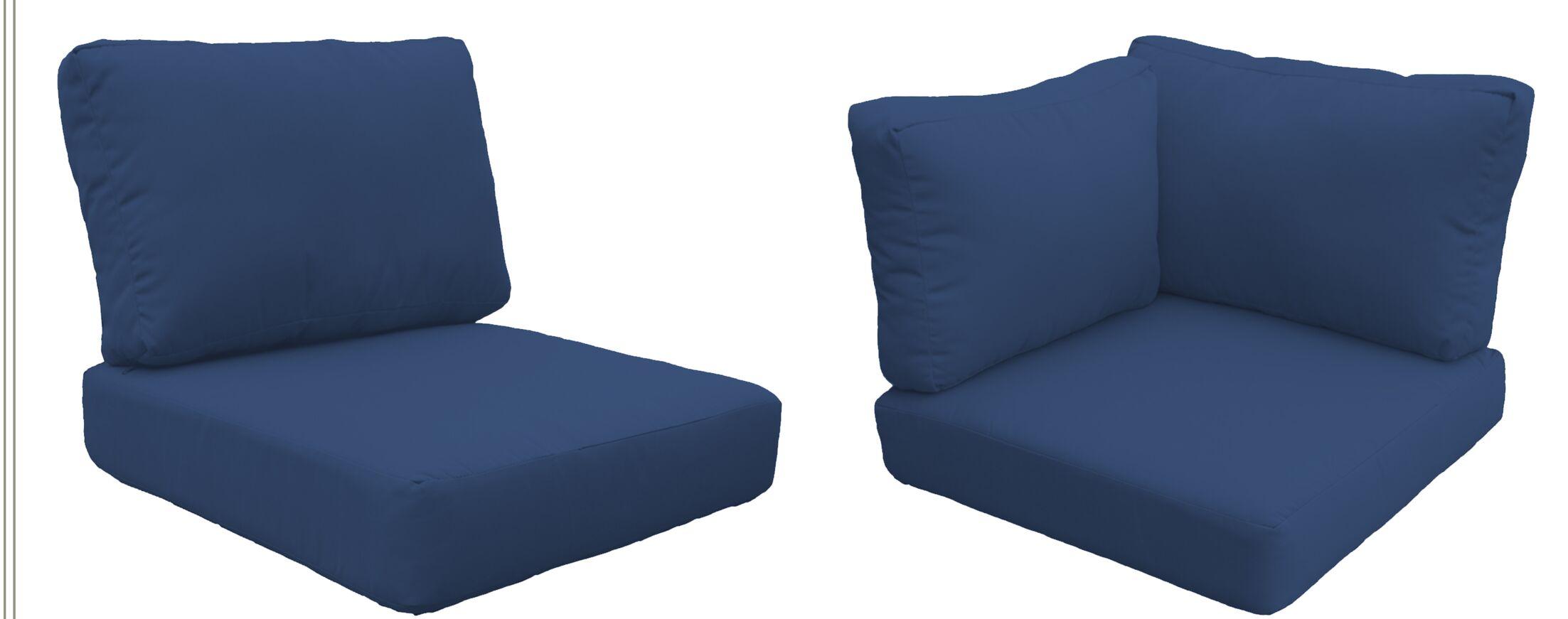 Barbados 24 Piece Outdoor Cushion Set Fabric: Navy