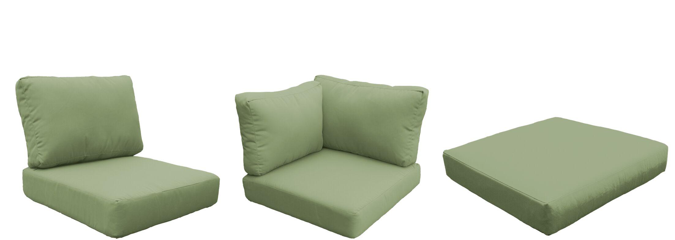 Barbados 14 Piece Outdoor Cushion Set Fabric: Cilantro