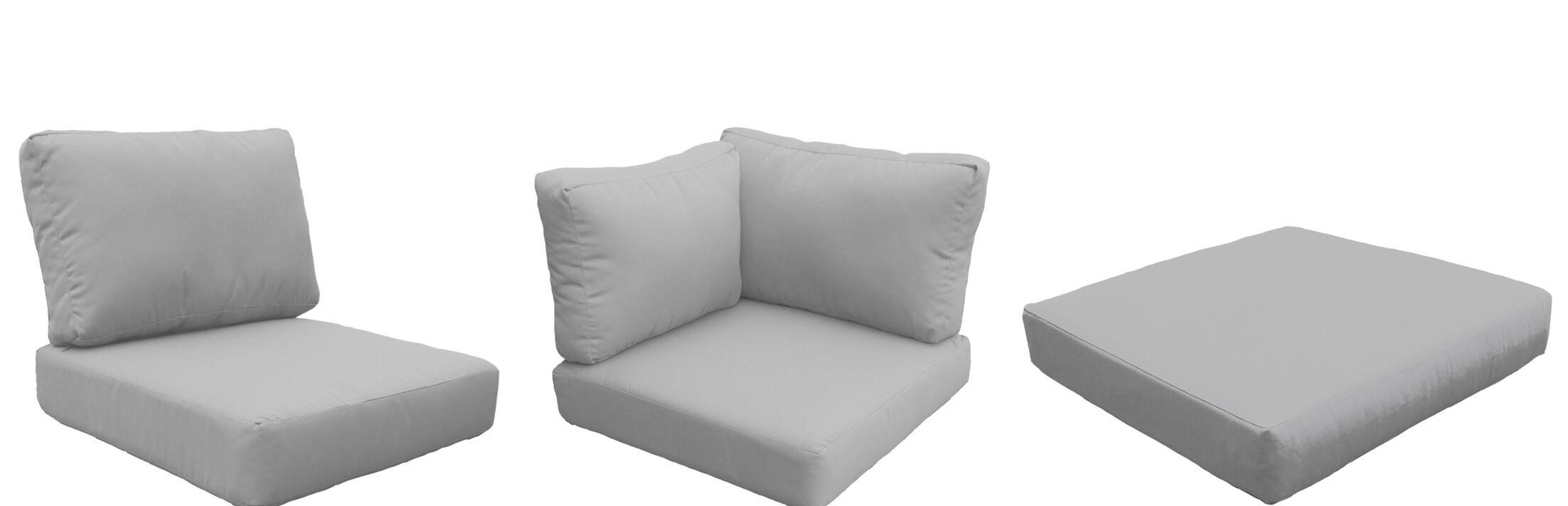 Barbados 18 Piece Outdoor Cushion Set Fabric: Gray