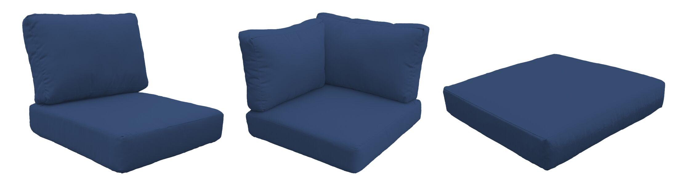 Barbados 18 Piece Outdoor Cushion Set Fabric: Navy