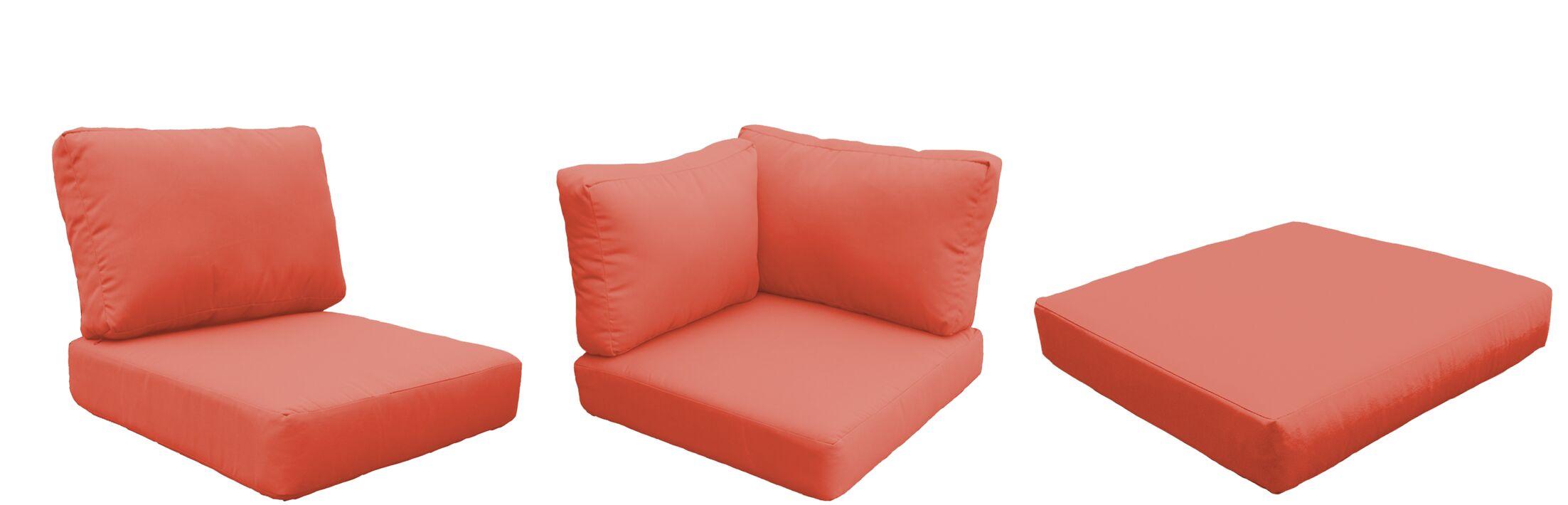 Barbados 18 Piece Outdoor Cushion Set Fabric: Tangerine