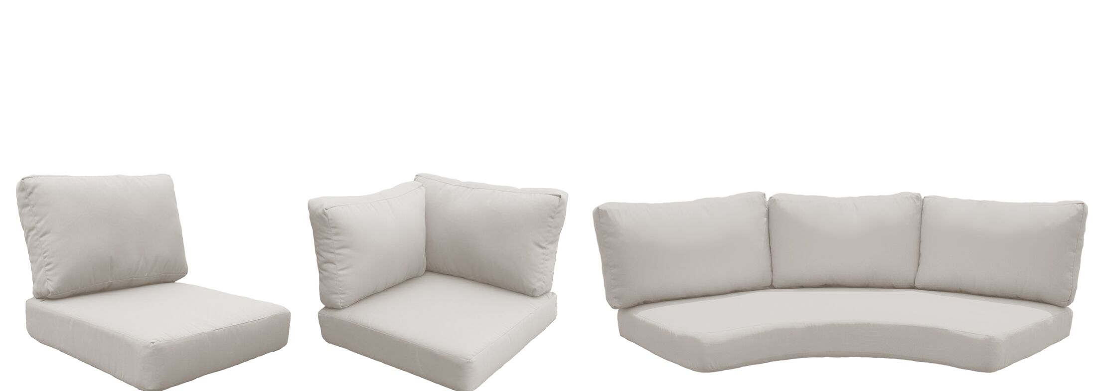 Florence 14 Piece Outdoor Cushion Set Fabric: Beige