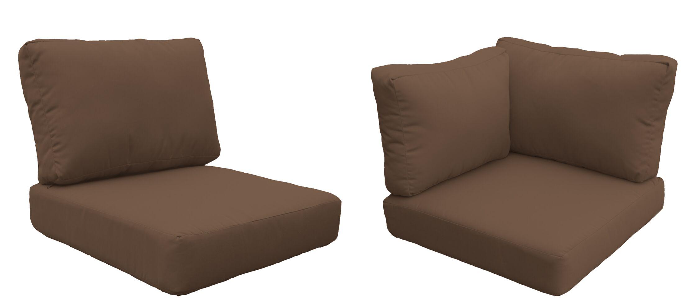 Barbados 8 Piece Outdoor Cushion Set Fabric: Cocoa