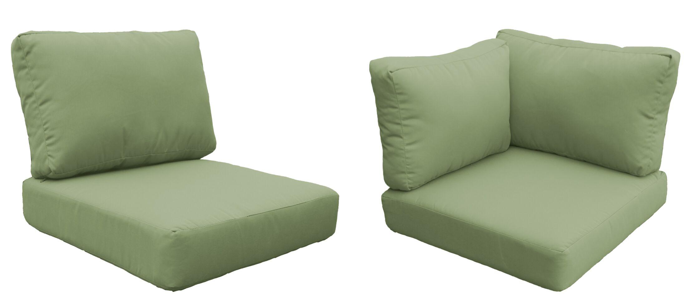 Barbados 8 Piece Outdoor Cushion Set Fabric: Cilantro