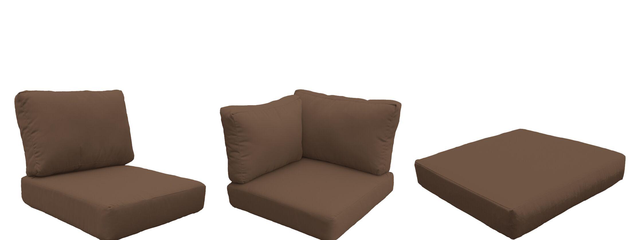 Barbados 25 Piece Outdoor Cushion Set Fabric: Cocoa