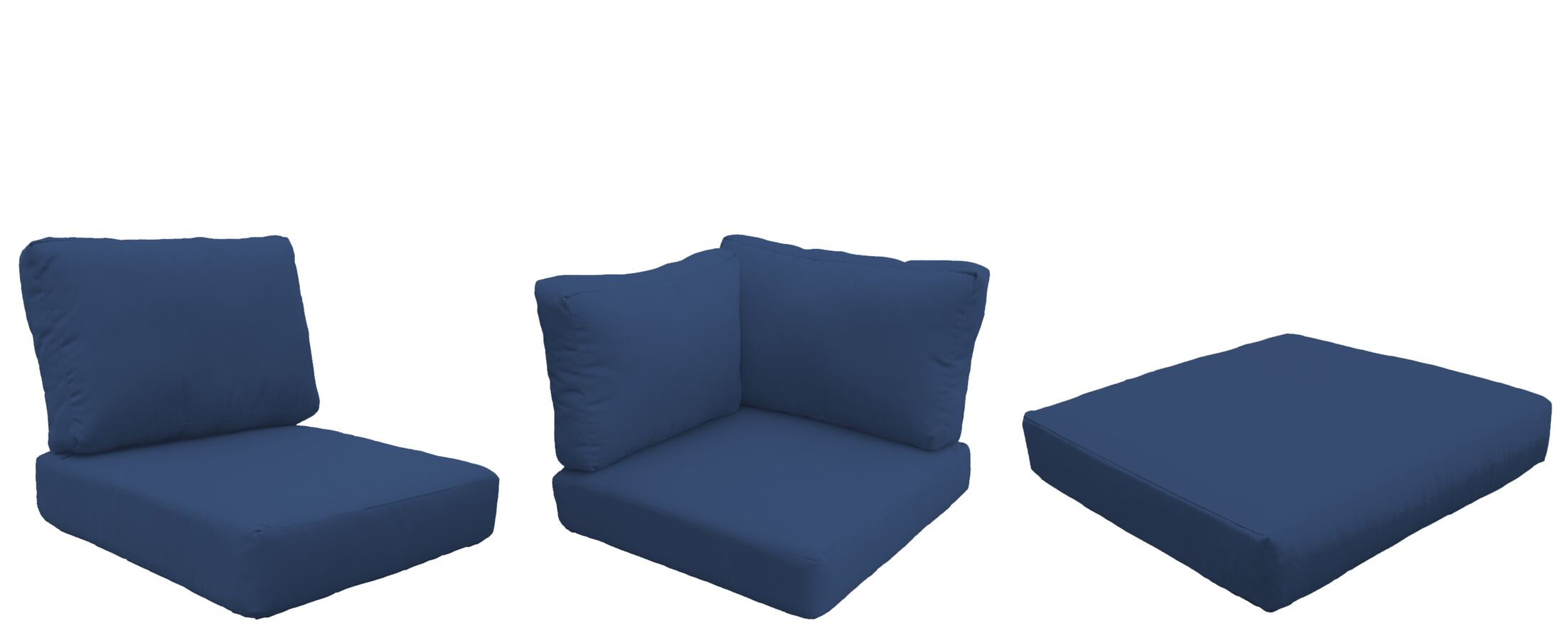 Barbados 25 Piece Outdoor Cushion Set Fabric: Navy