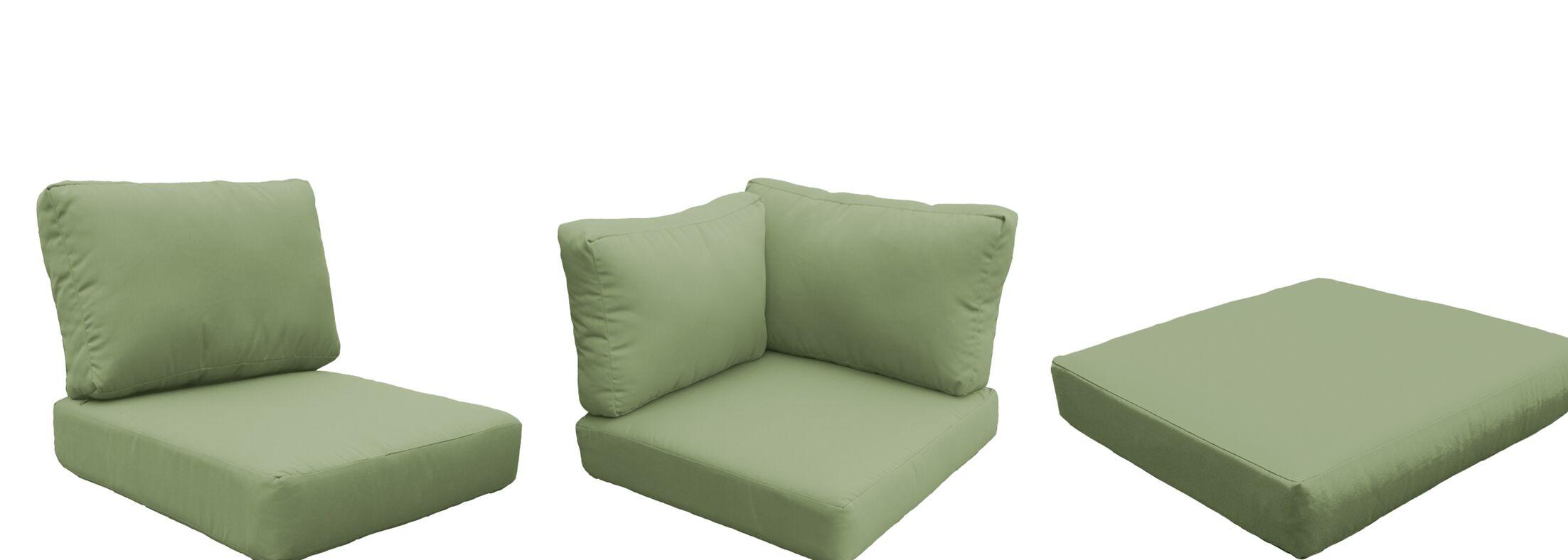 Florence 12 Piece Outdoor Cushion Set Fabric: Cilantro