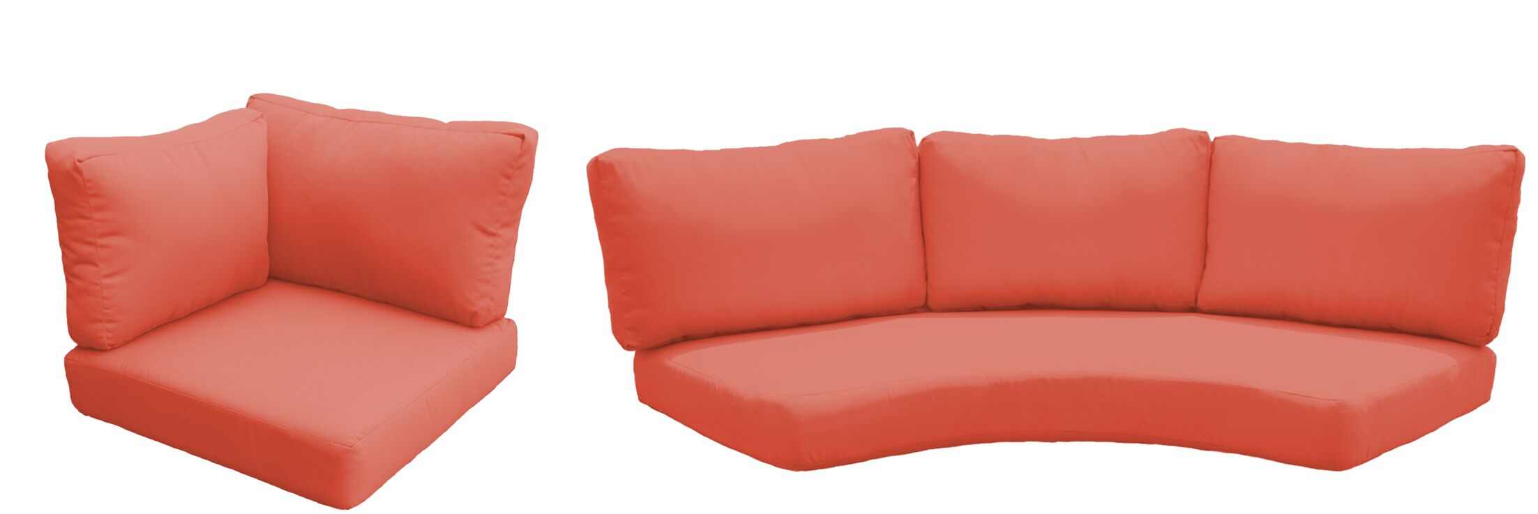 Barbados Outdoor Replacement Cushion Set Fabric: Tangerine