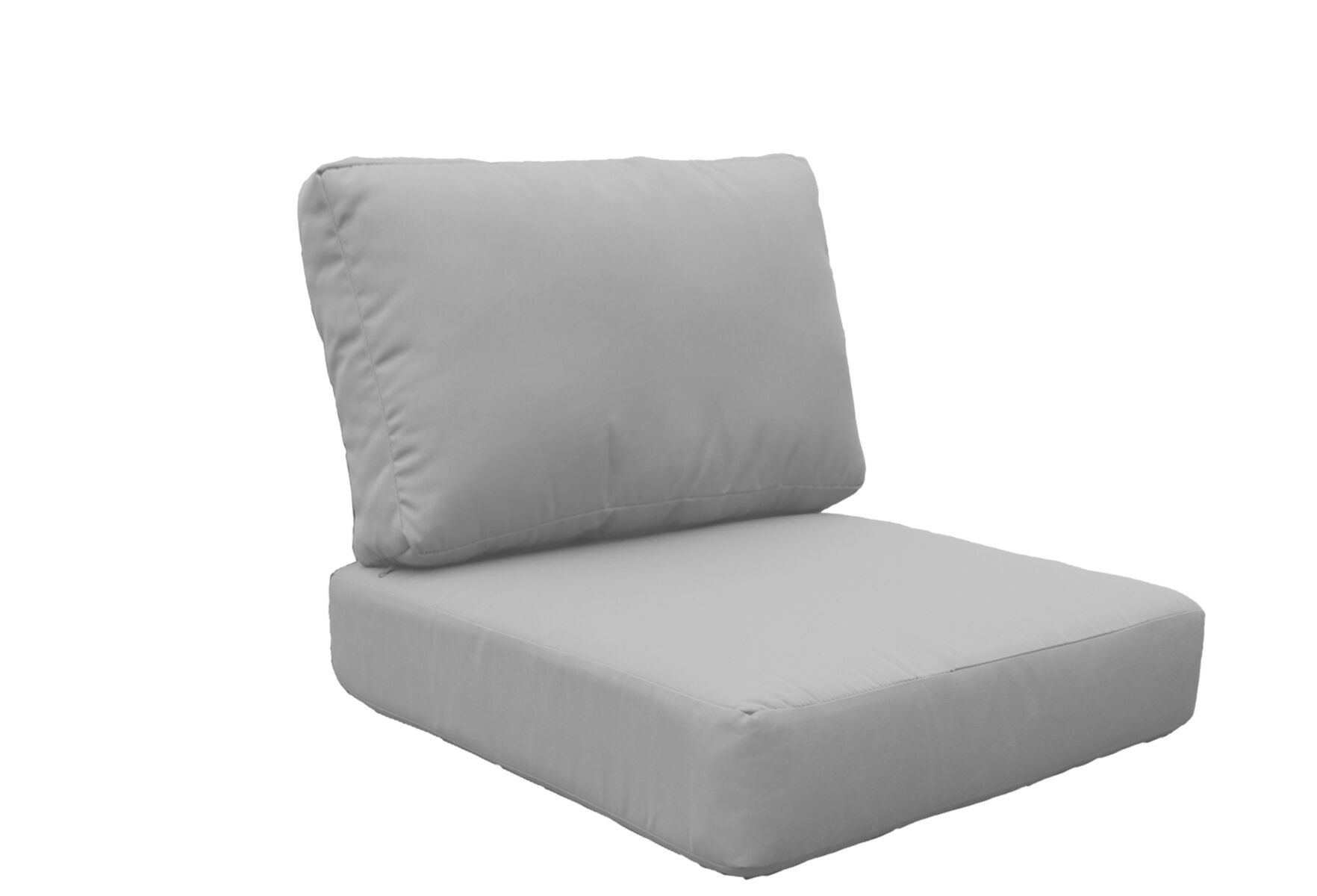 Miami 10 Piece Outdoor Lounge Chair Cushion Set Fabric: Gray